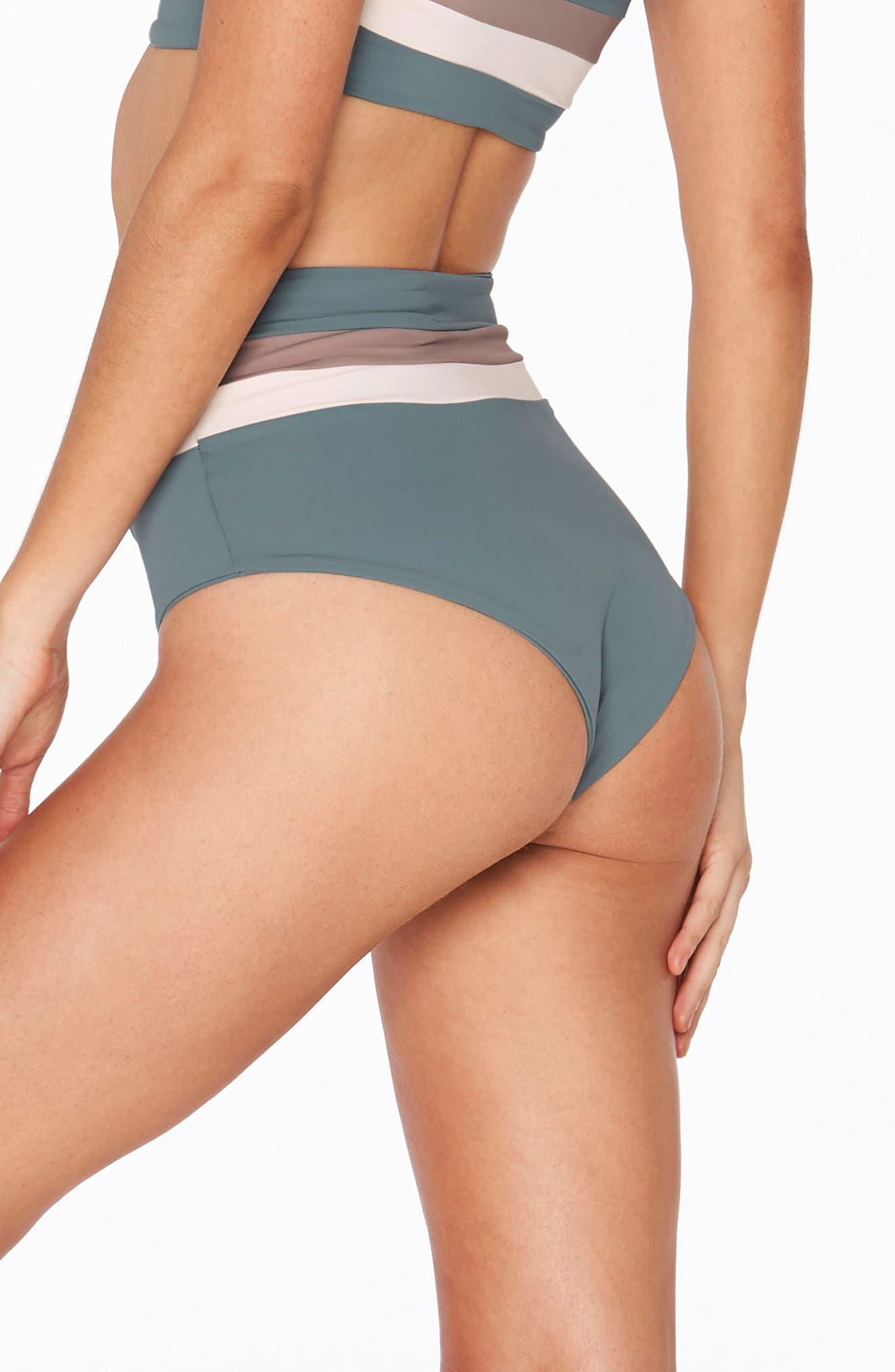 Portia Reversible Colorblock Bikini Bottoms,                             Alternate thumbnail 8, color,