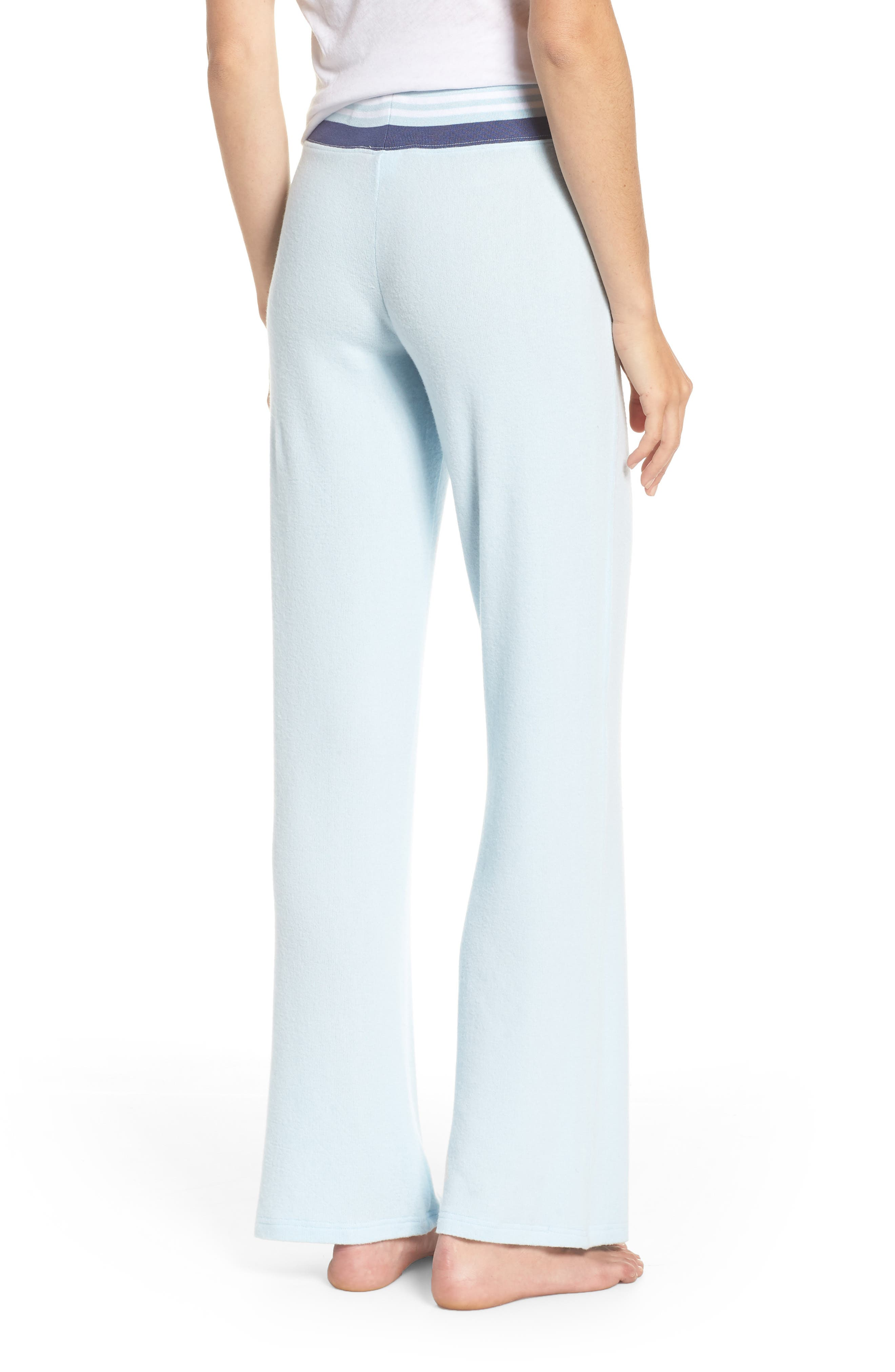 Best Boyfriend Brushed Hacci Lounge Pants,                             Alternate thumbnail 2, color,                             BLUE OMPHALODES