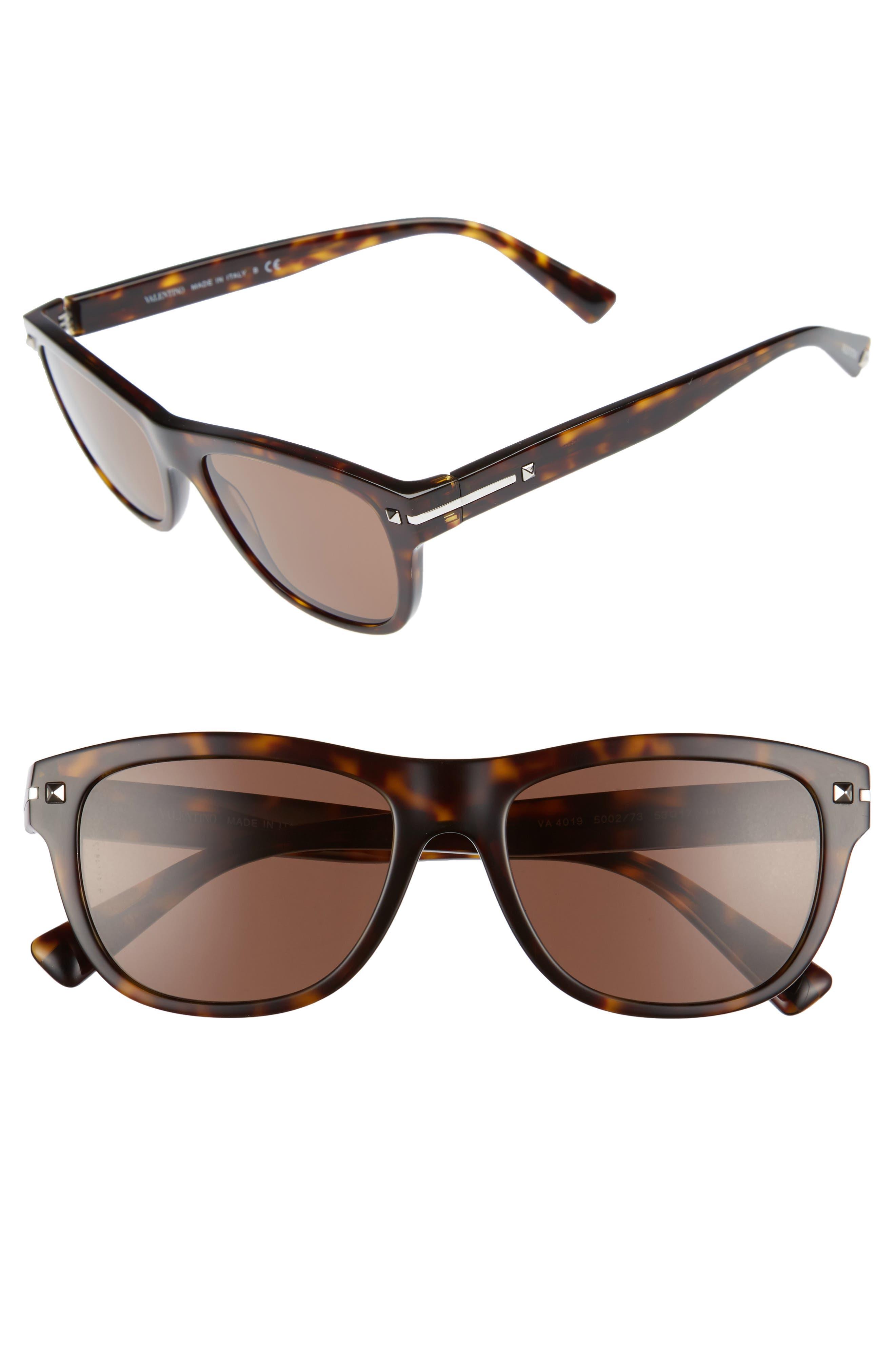 53mm Sunglasses,                             Main thumbnail 1, color,                             BROWN/ HAVANA