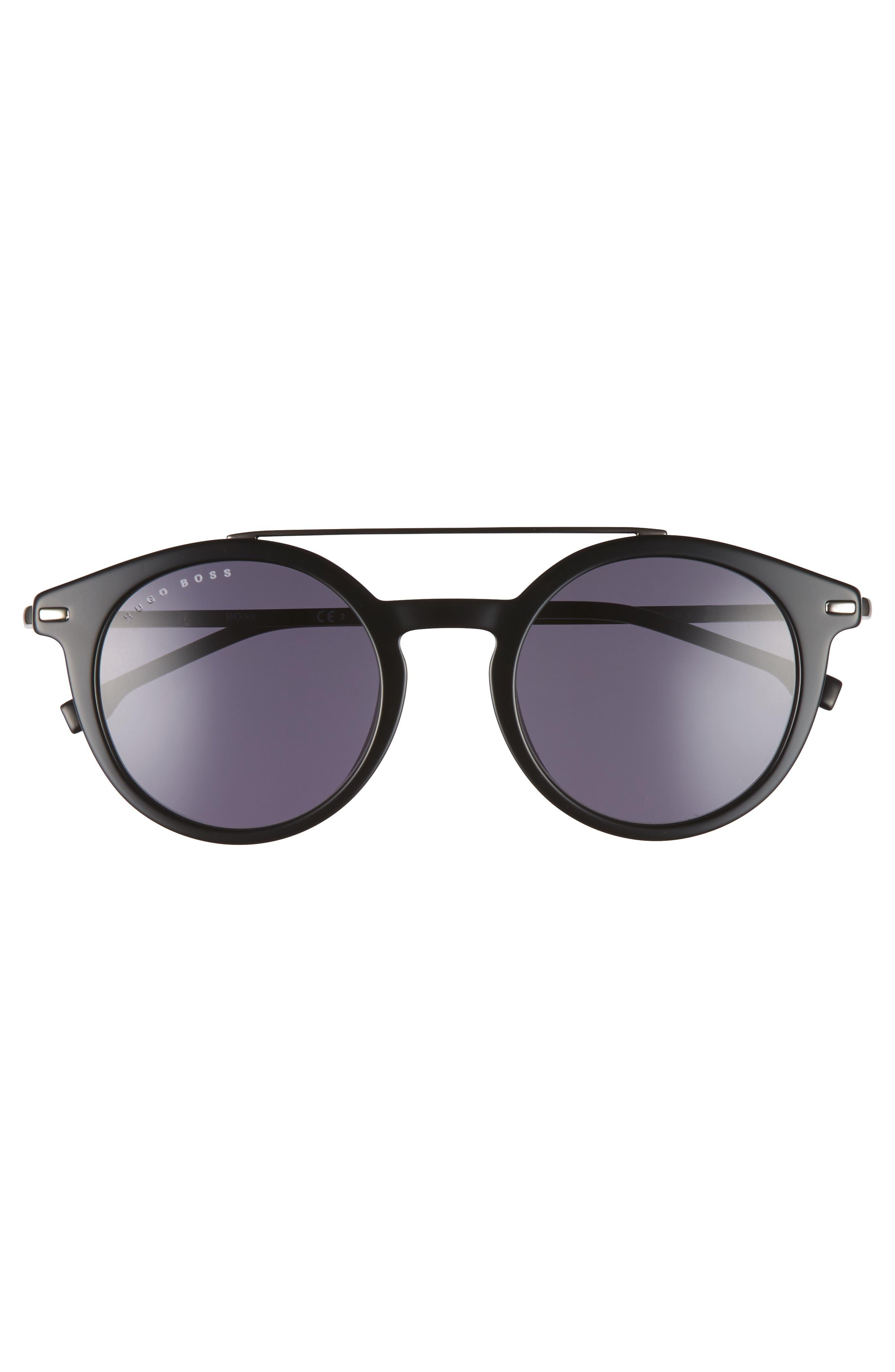 B0926S 49mm Polarized Sunglasses,                             Alternate thumbnail 2, color,                             BLACK