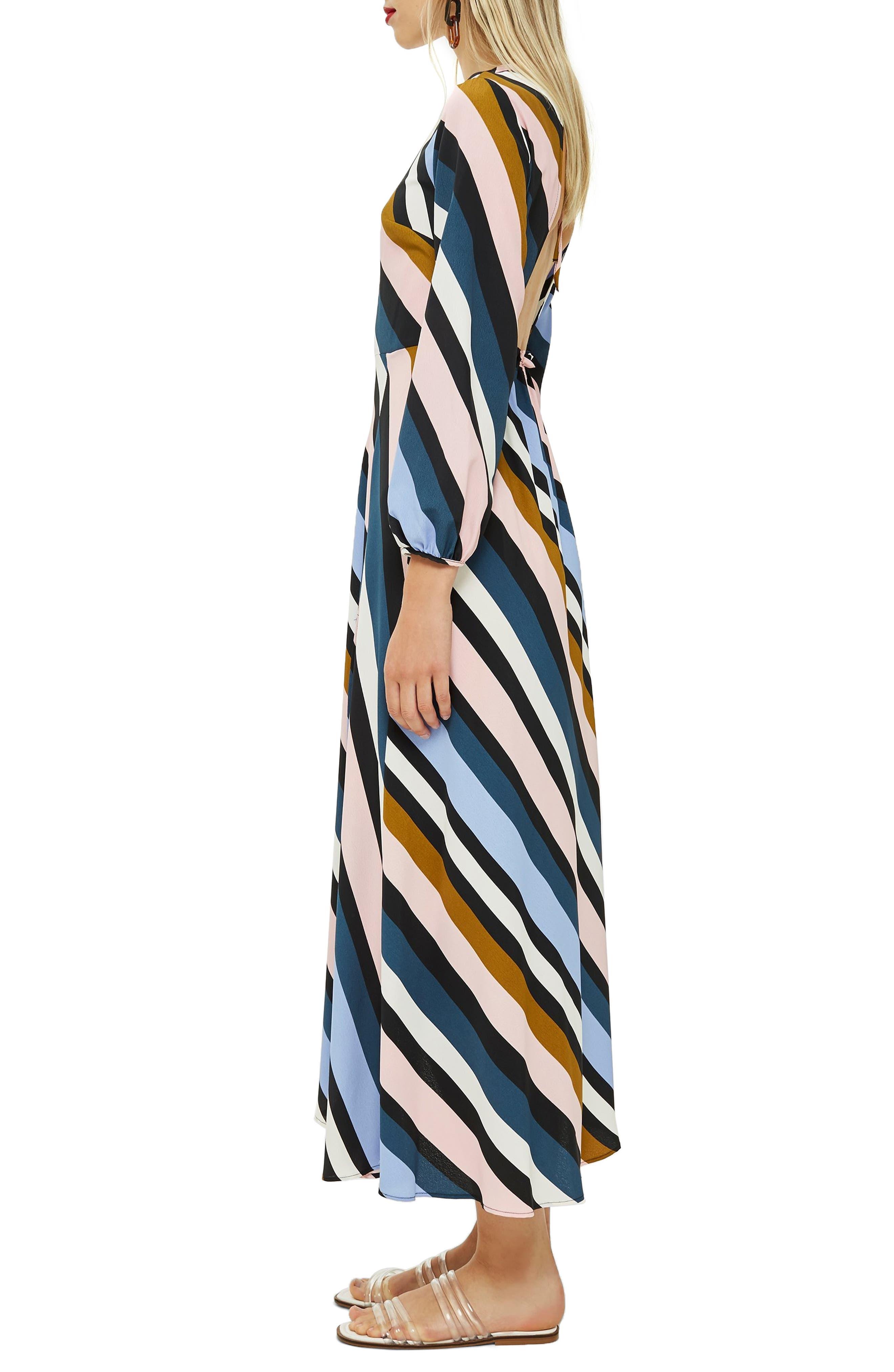 Open Back Midi Dress,                             Alternate thumbnail 3, color,                             460