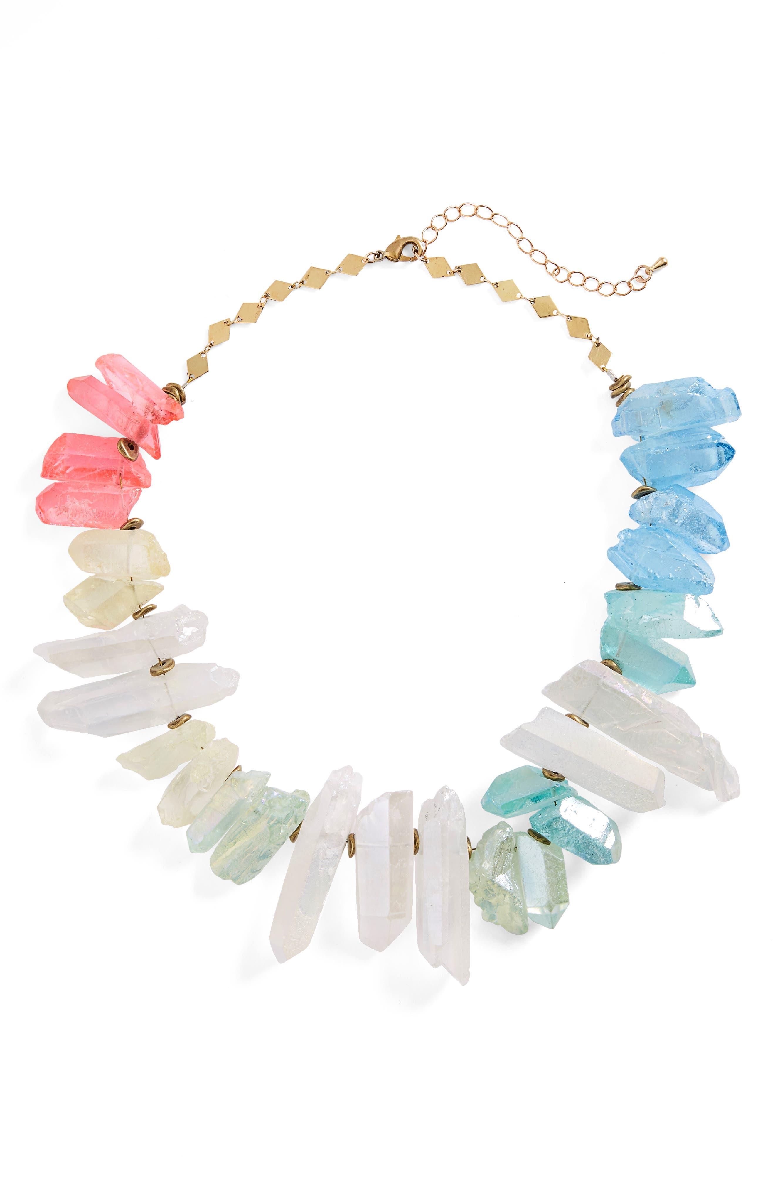 Aura Crystal Collar Necklace,                             Main thumbnail 1, color,