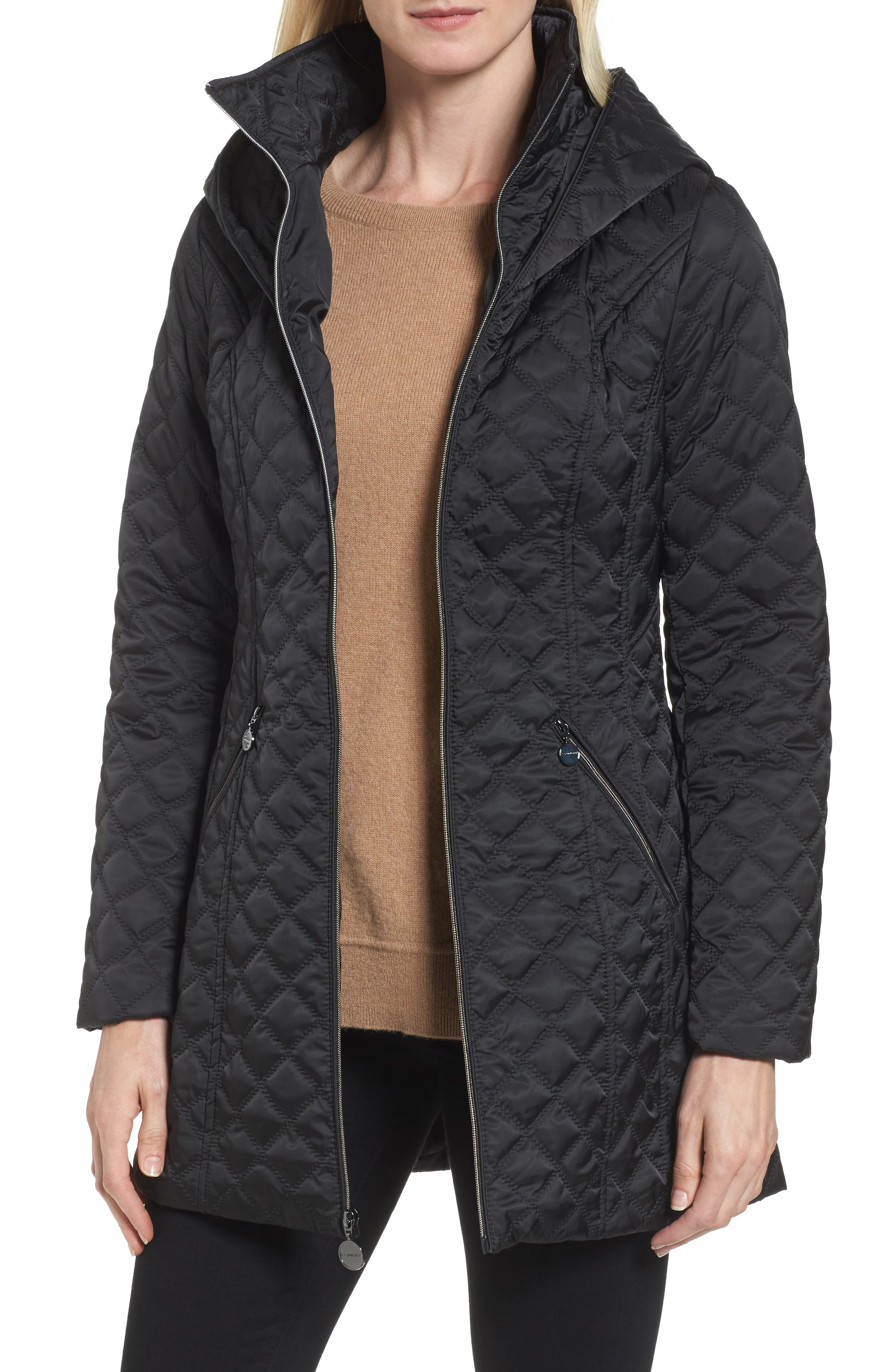 Hooded Quilted Jacket,                             Main thumbnail 1, color,