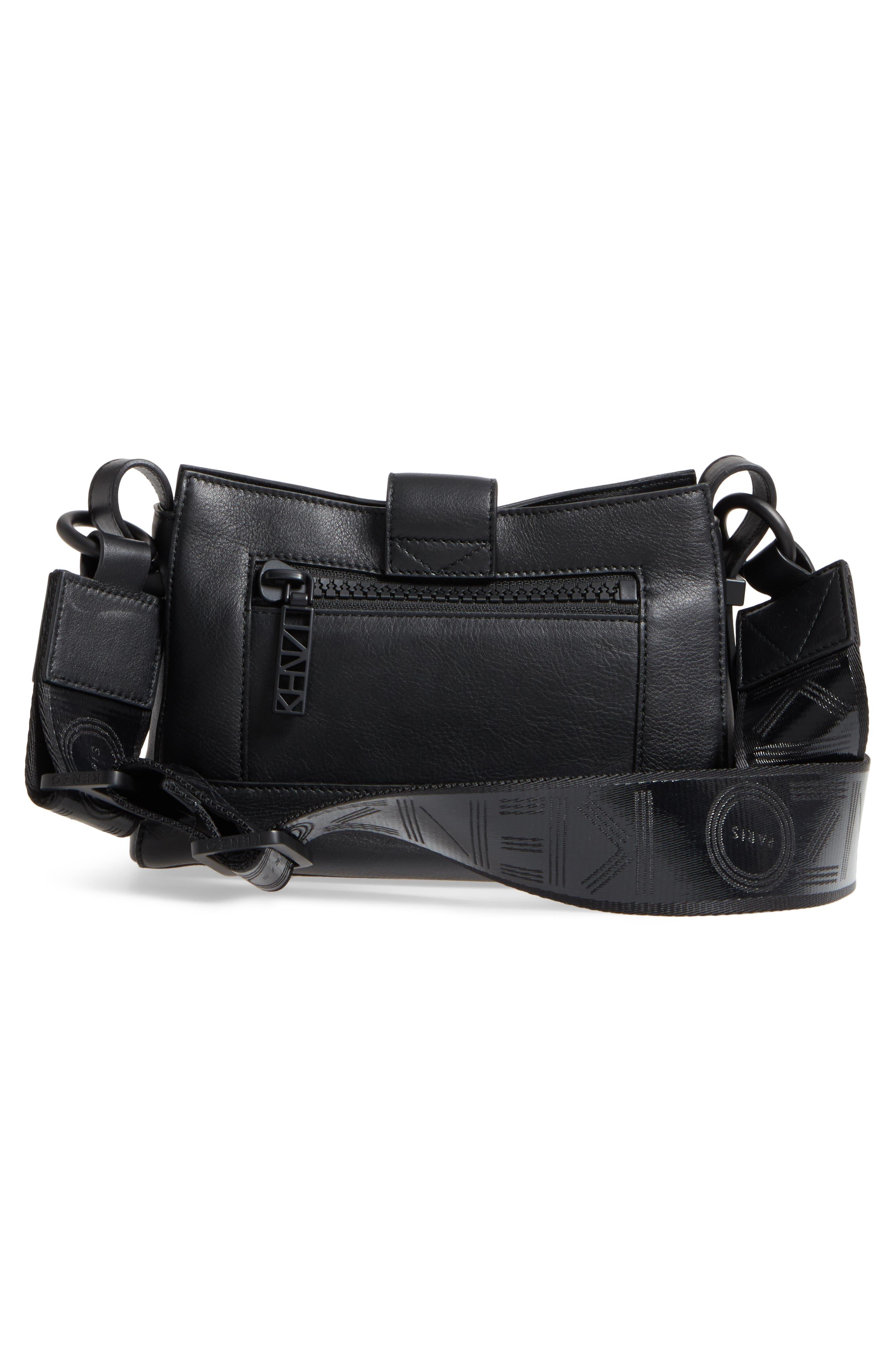 Mini Kalifornia Leather Shoulder Bag,                             Alternate thumbnail 3, color,                             001