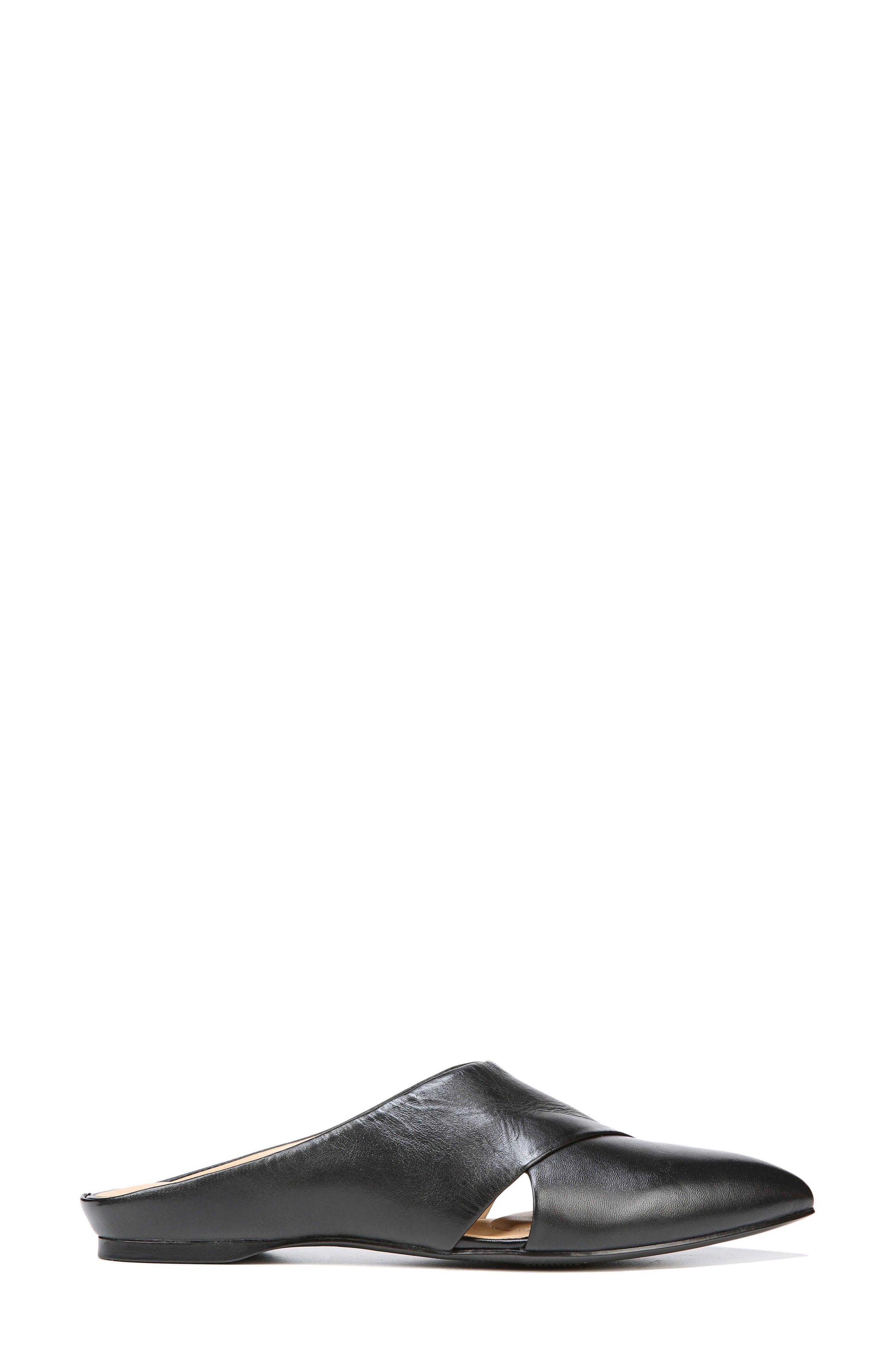 Simonette Mule,                             Alternate thumbnail 3, color,                             BLACK LEATHER