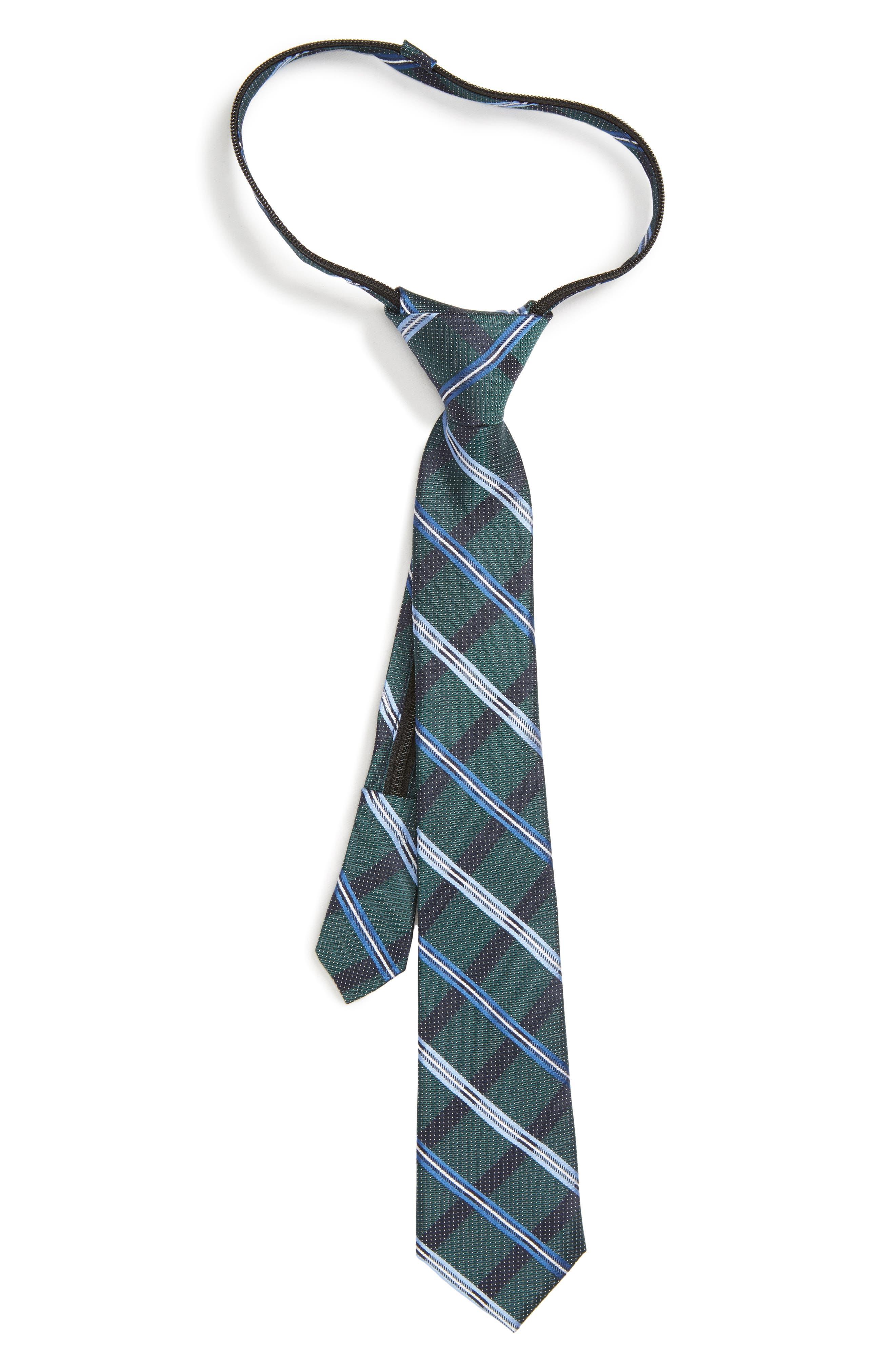 Stripe Silk Zip Tie,                             Main thumbnail 1, color,                             300