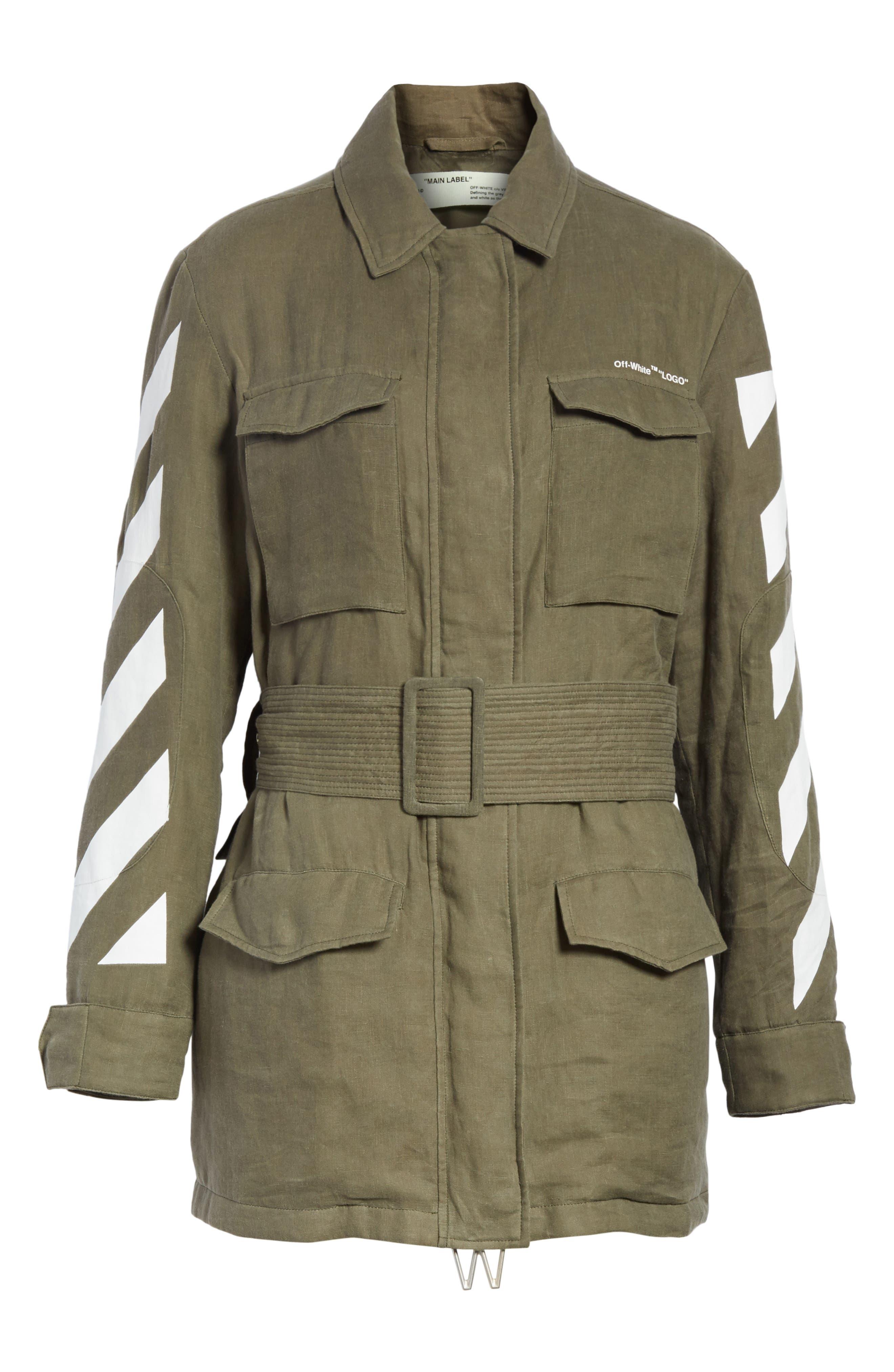 Diagonal Stripe Field Jacket,                             Alternate thumbnail 5, color,                             300