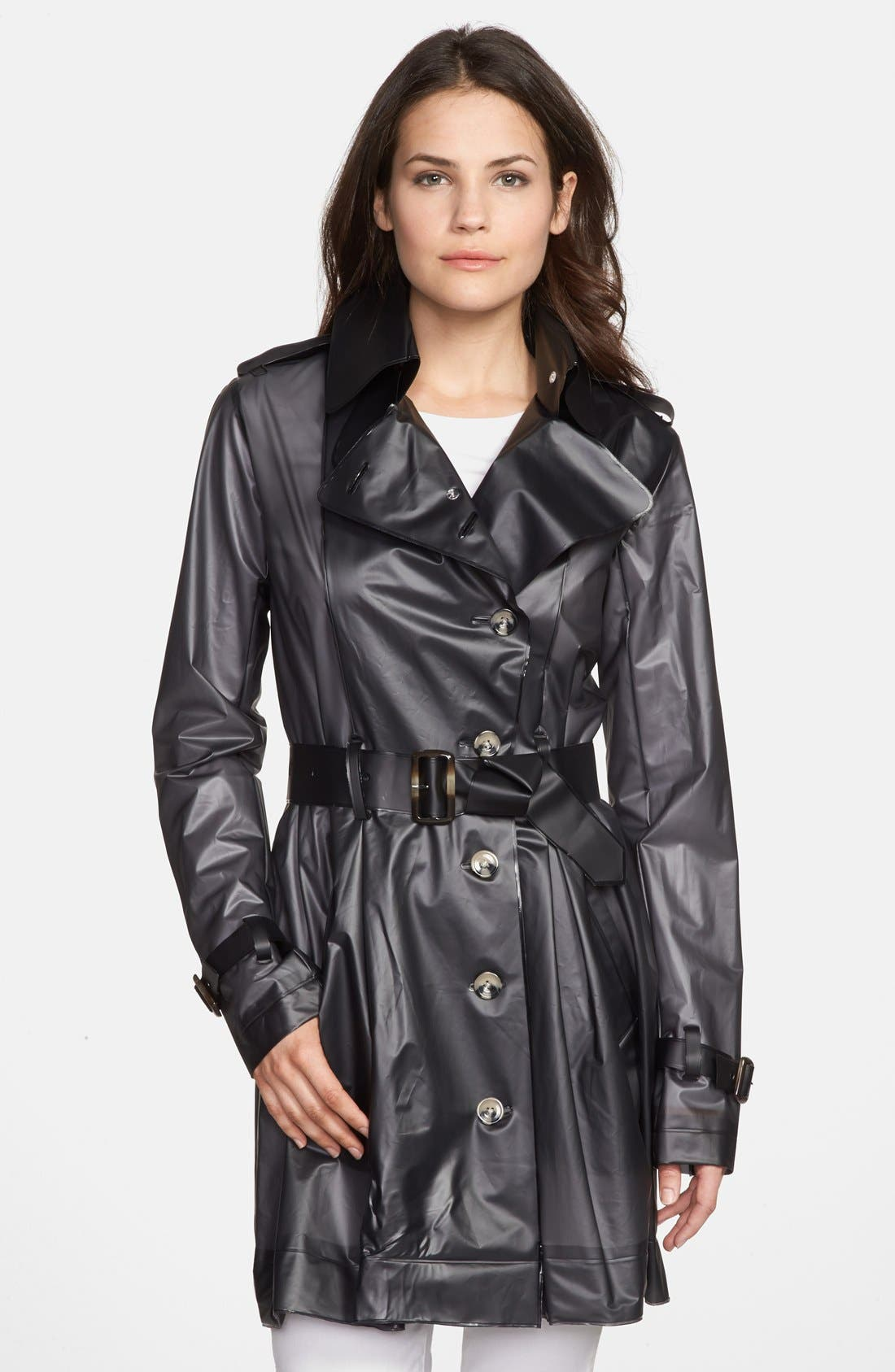 TERRA NEW YORK Waterproof Translucent Trench Coat, Main, color, 001