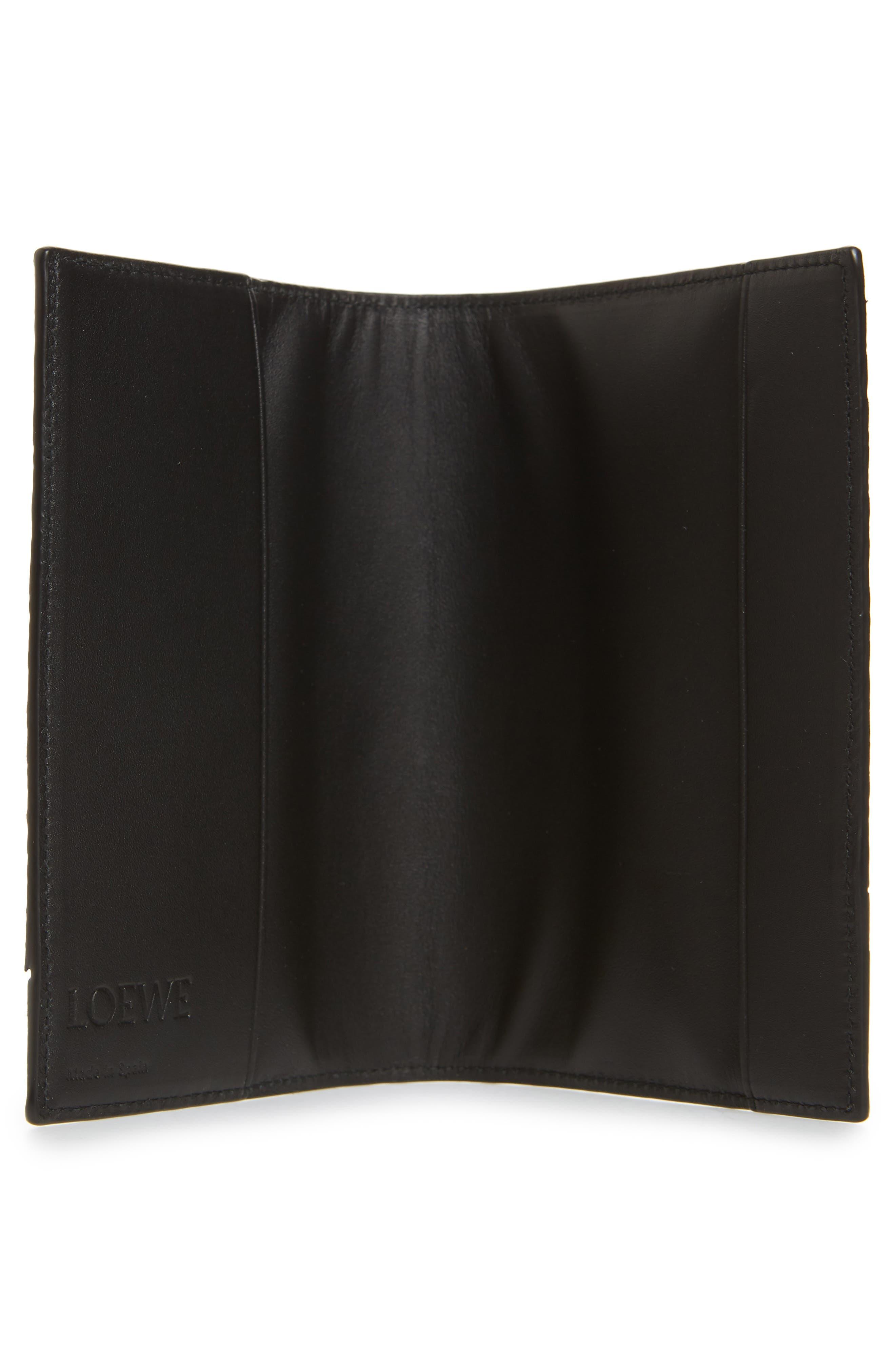 Leather Puzzle Passport Case,                             Alternate thumbnail 2, color,                             BLACK