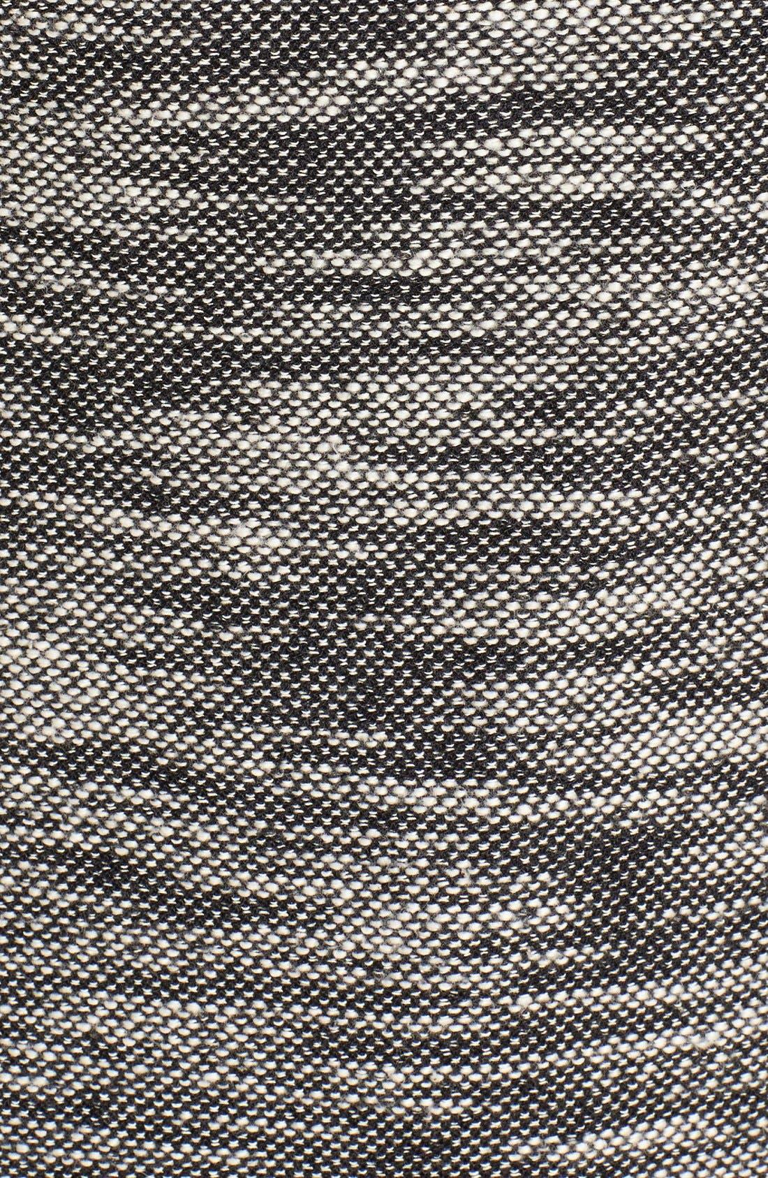 Asymmetrical Mixed Media Jacket,                             Alternate thumbnail 3, color,                             001