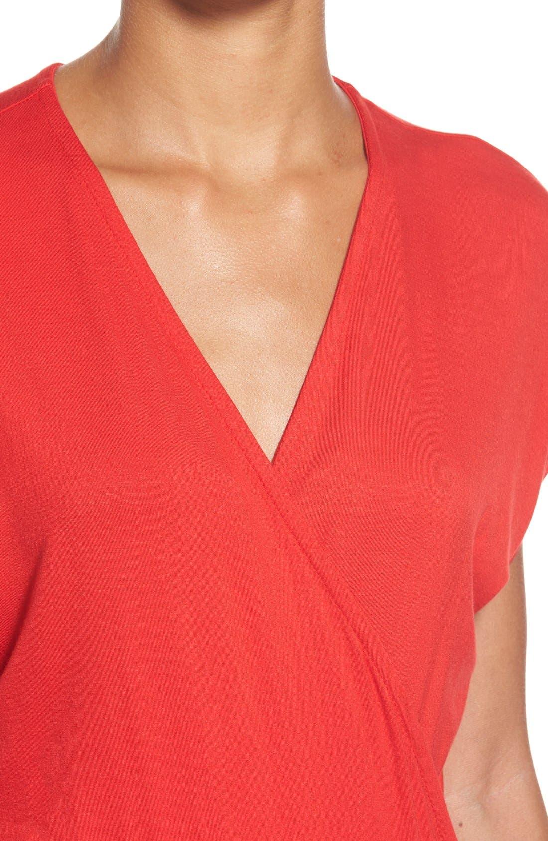 Short Sleeve Wrap Top Jumpsuit,                             Alternate thumbnail 27, color,