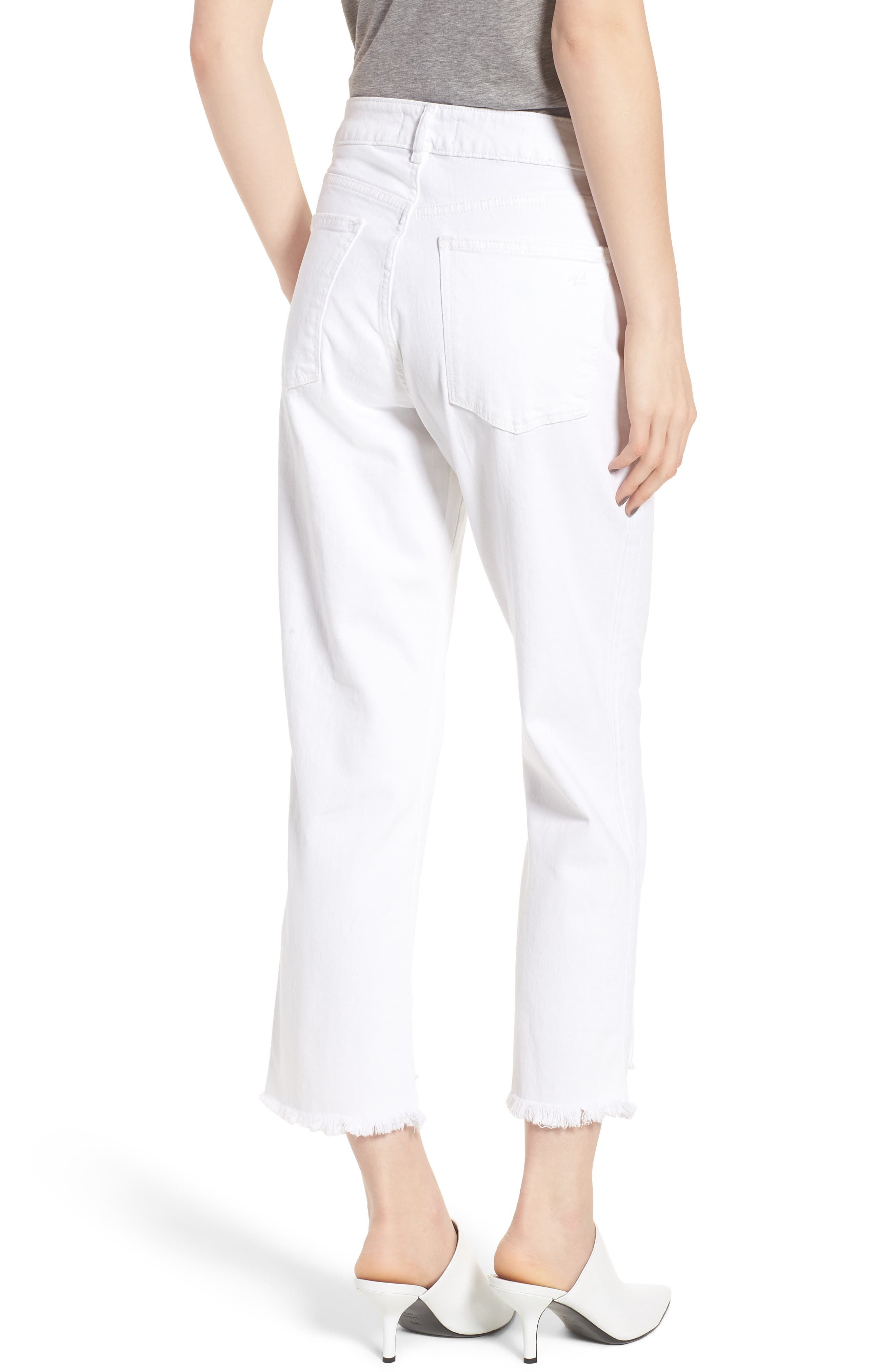 Patti High Waist Crop Straight Leg Jeans,                             Alternate thumbnail 2, color,