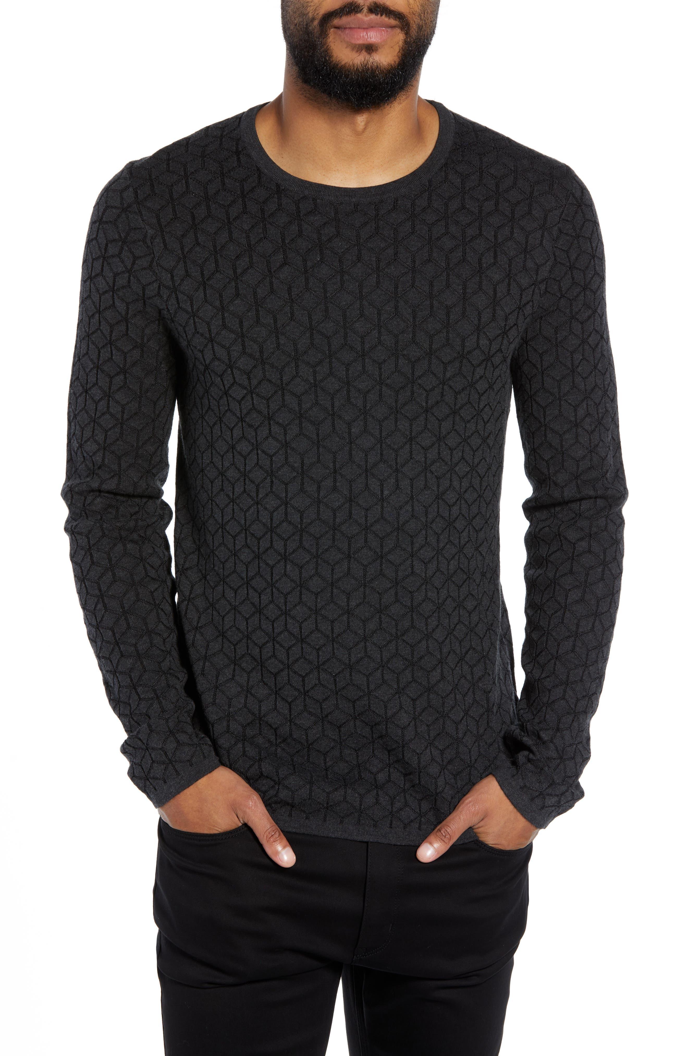 Scuber Slim Fit Diamond Sweater,                         Main,                         color, GREY