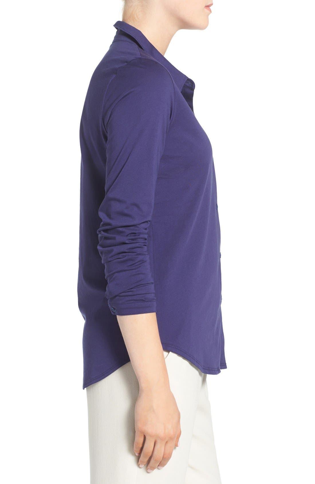 Organic Cotton Jersey Classic Collar Shirt,                             Alternate thumbnail 13, color,