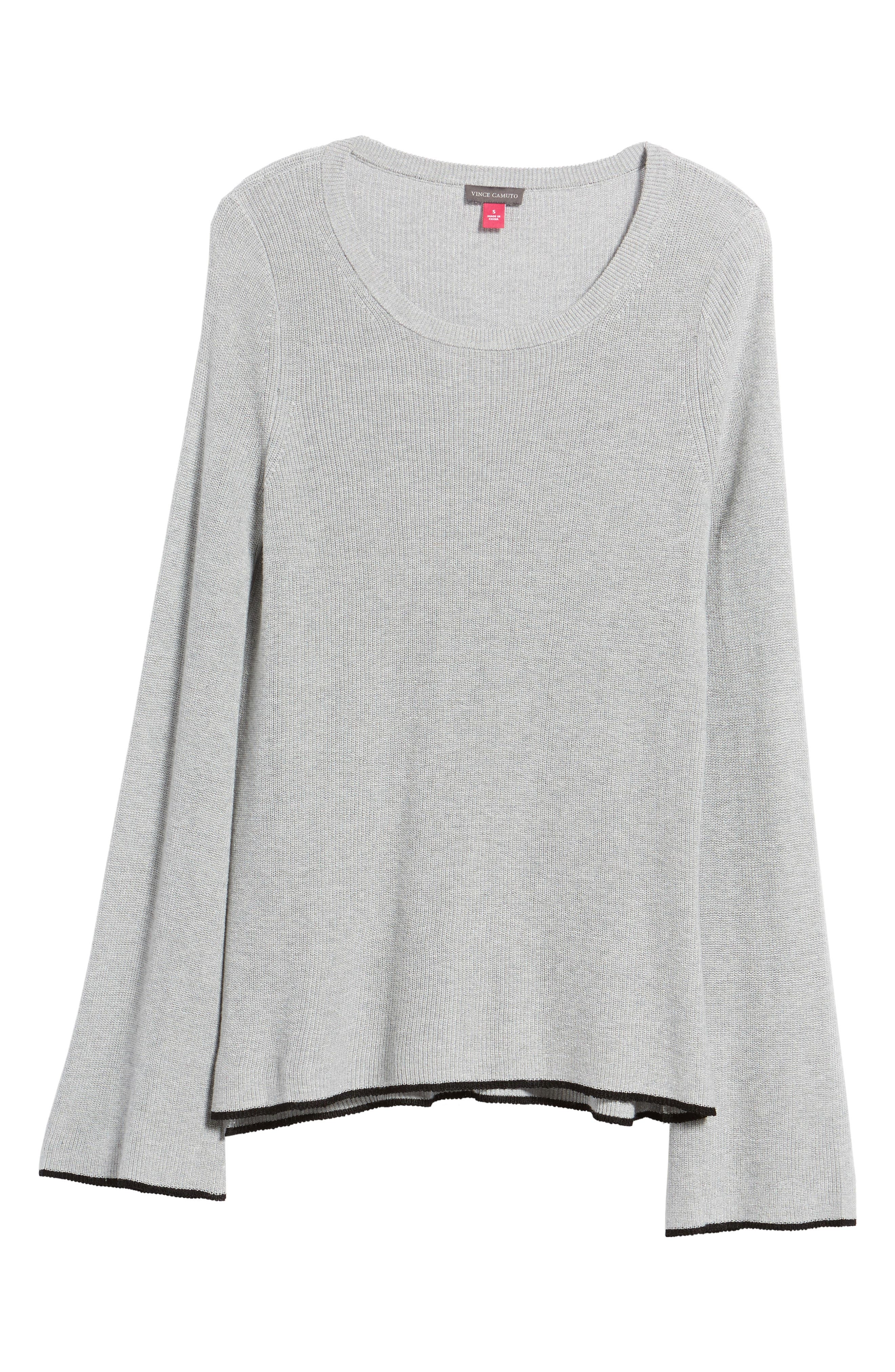 Tipped Bell Sleeve Sweater,                             Alternate thumbnail 38, color,