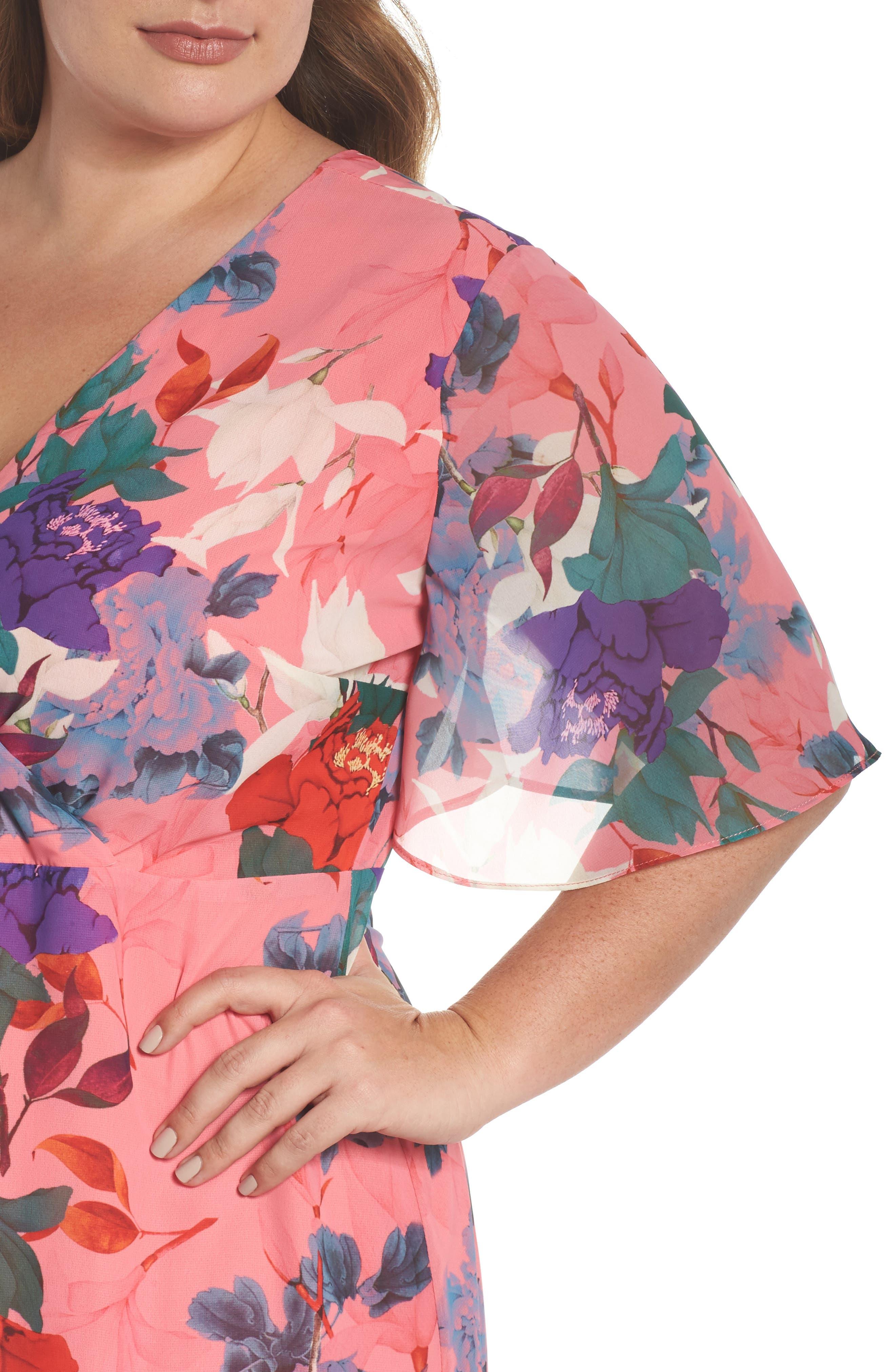 Floral Kimono Maxi Dress,                             Alternate thumbnail 4, color,                             650