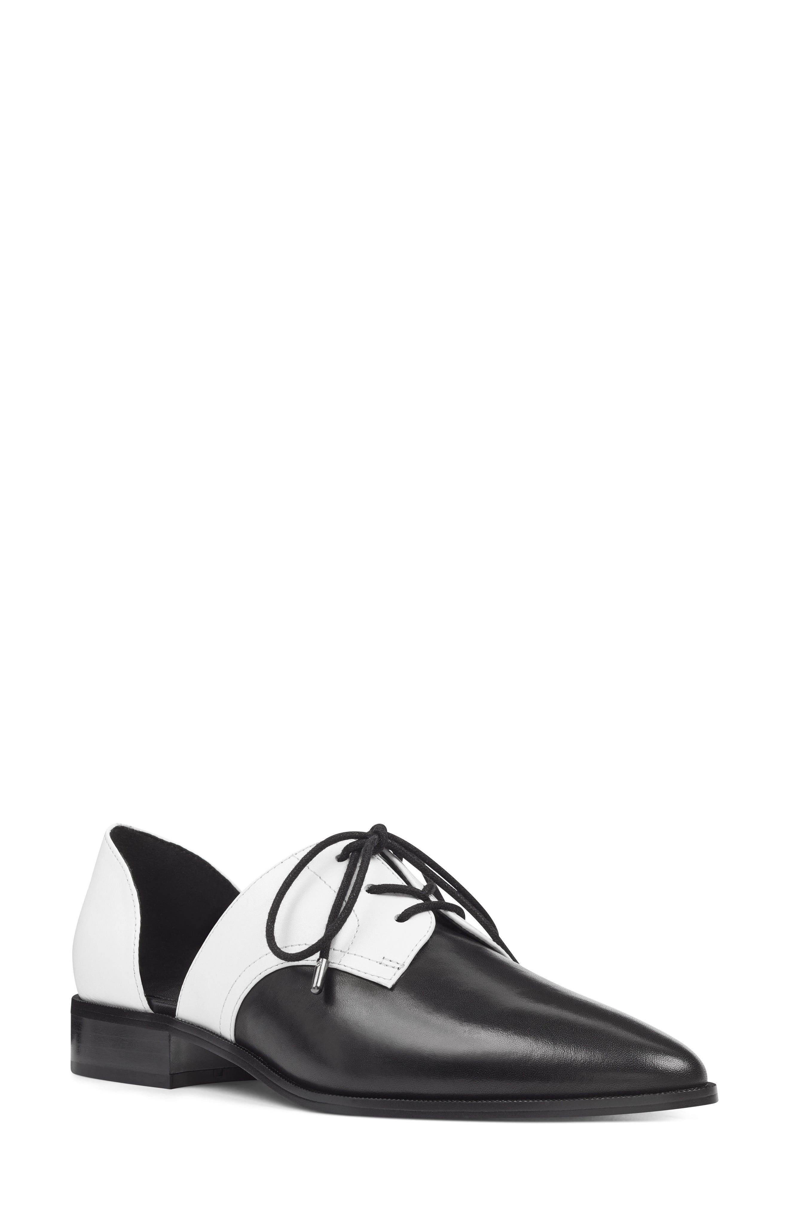 Watervelt Oxford,                         Main,                         color, BLACK/ WHITE LEATHER