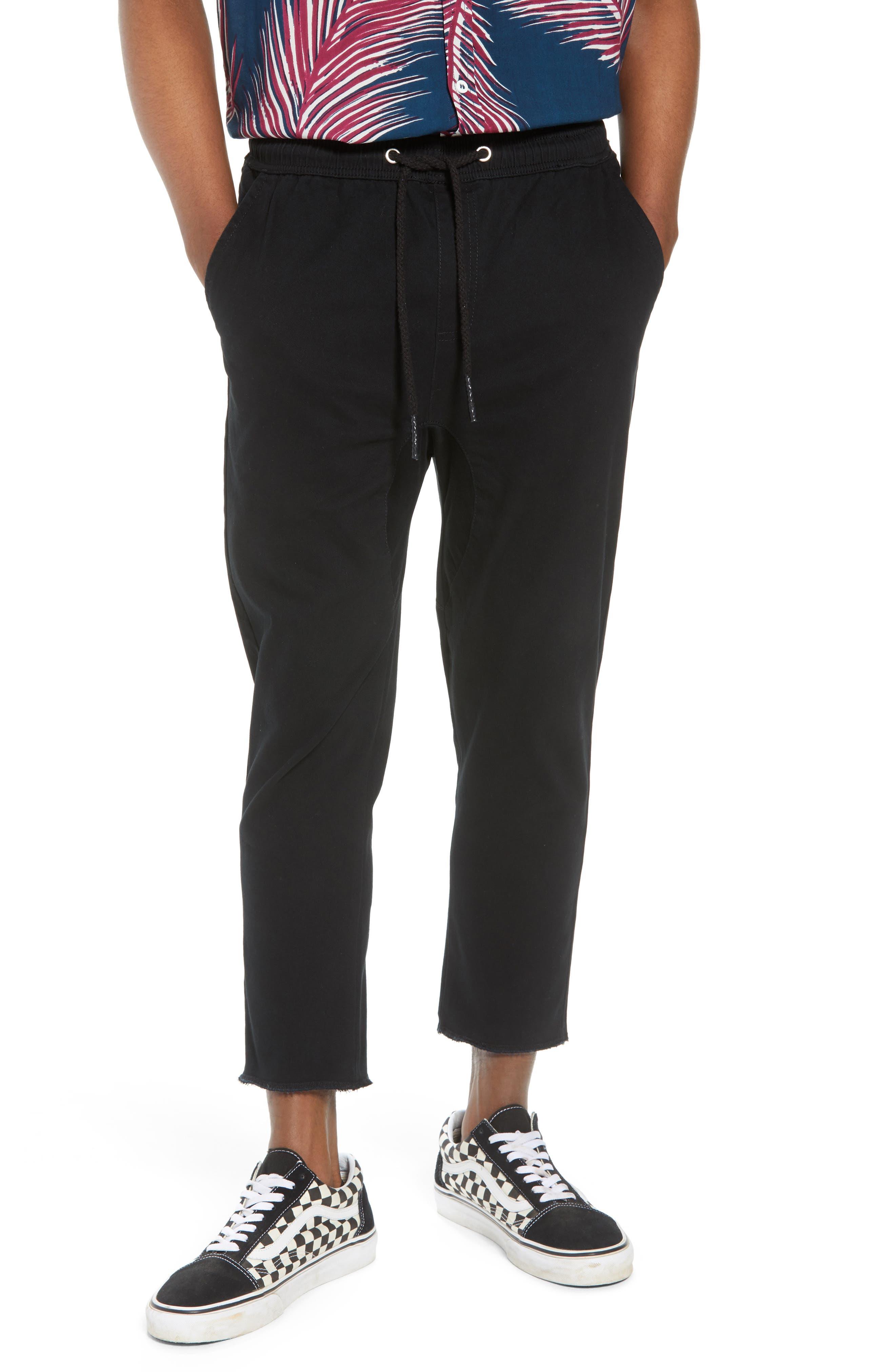 Vacation Slim Fit Crop Pants,                         Main,                         color, BLACK