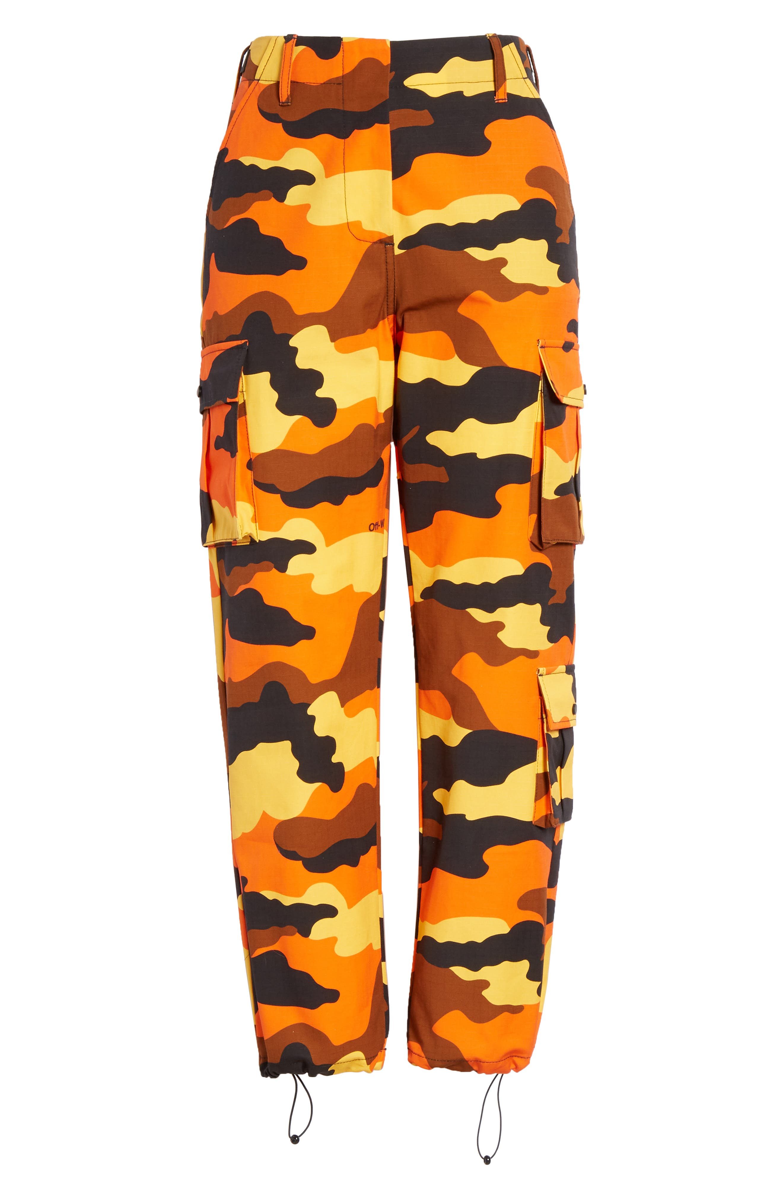 OFF-WHITE,                             Camo Cargo Pants,                             Alternate thumbnail 6, color,                             ALL OVER