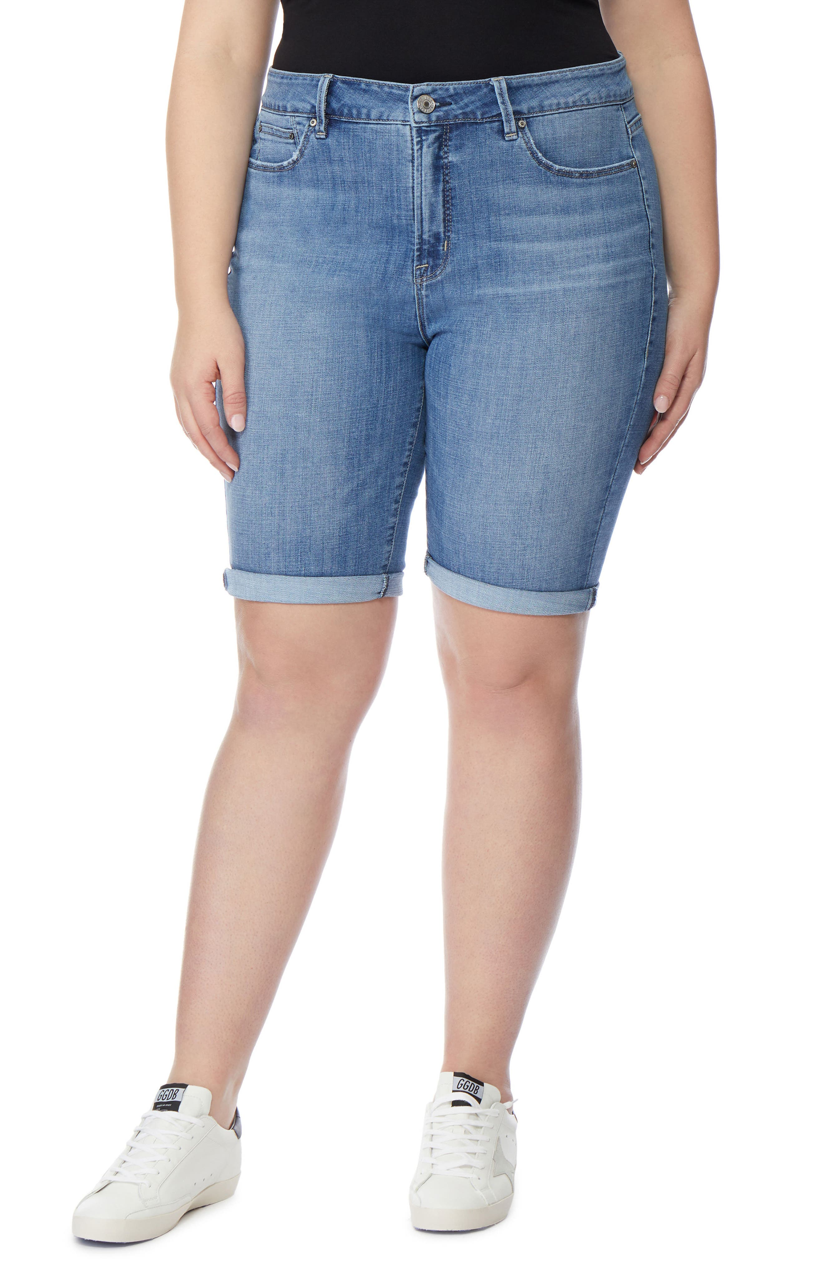 The Cruz Skinny Bermuda Shorts,                             Main thumbnail 1, color,                             432