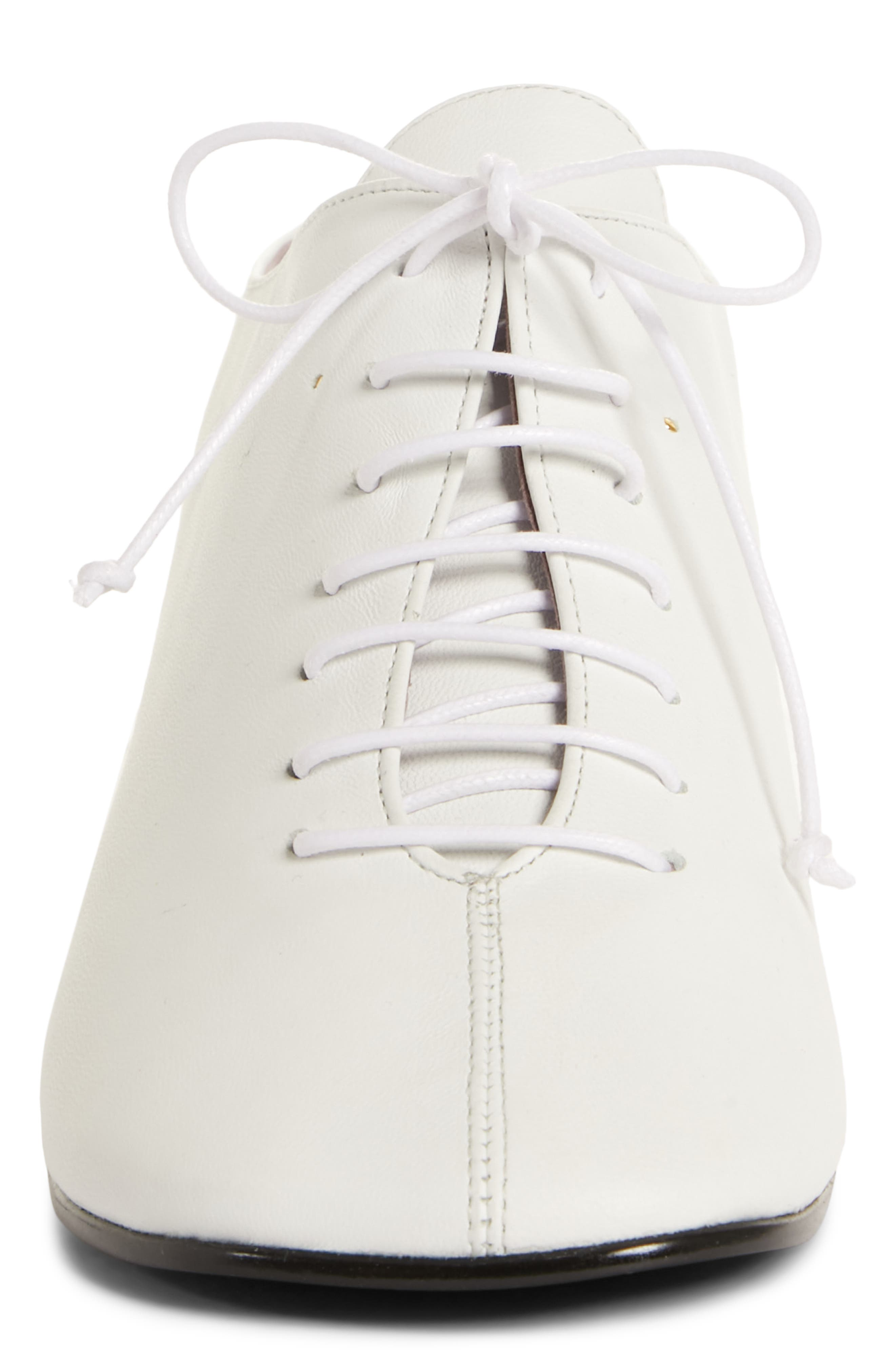Wide Lace-Up Mule,                             Alternate thumbnail 4, color,                             WHITE
