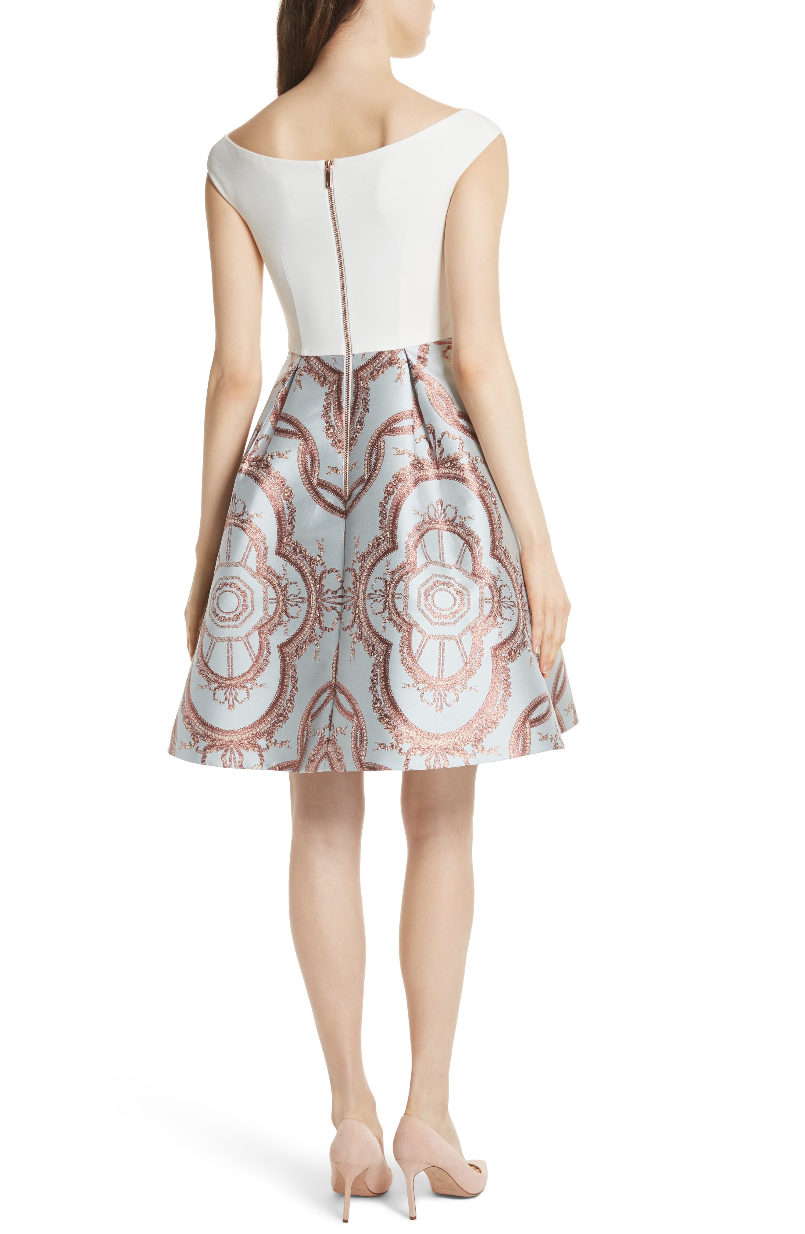 Versailles Fit & Flare Dress,                             Alternate thumbnail 2, color,                             454
