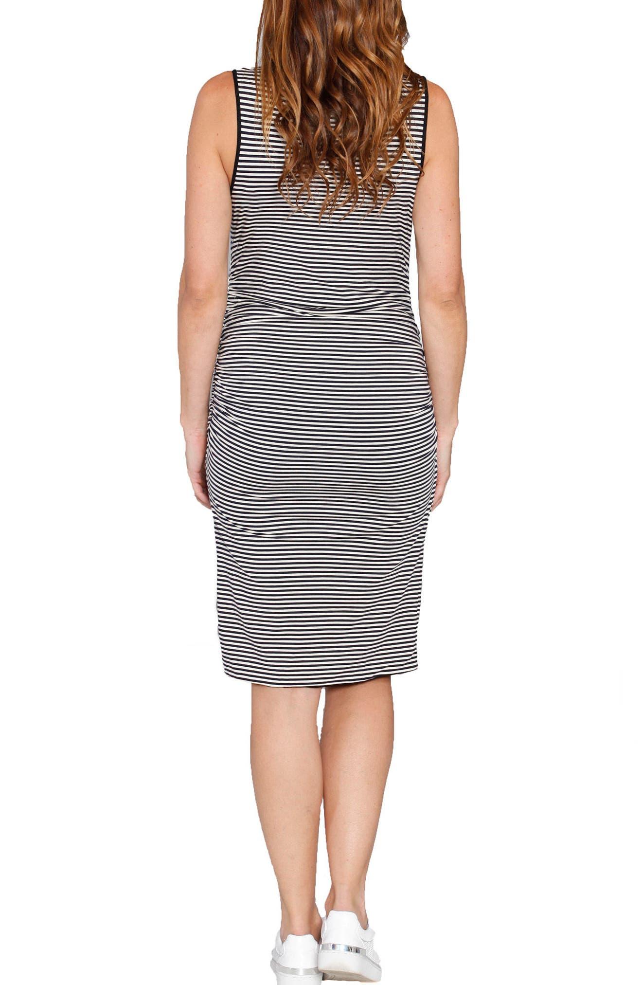 Reversible Maternity Tank Dress,                             Alternate thumbnail 2, color,                             STRIPES