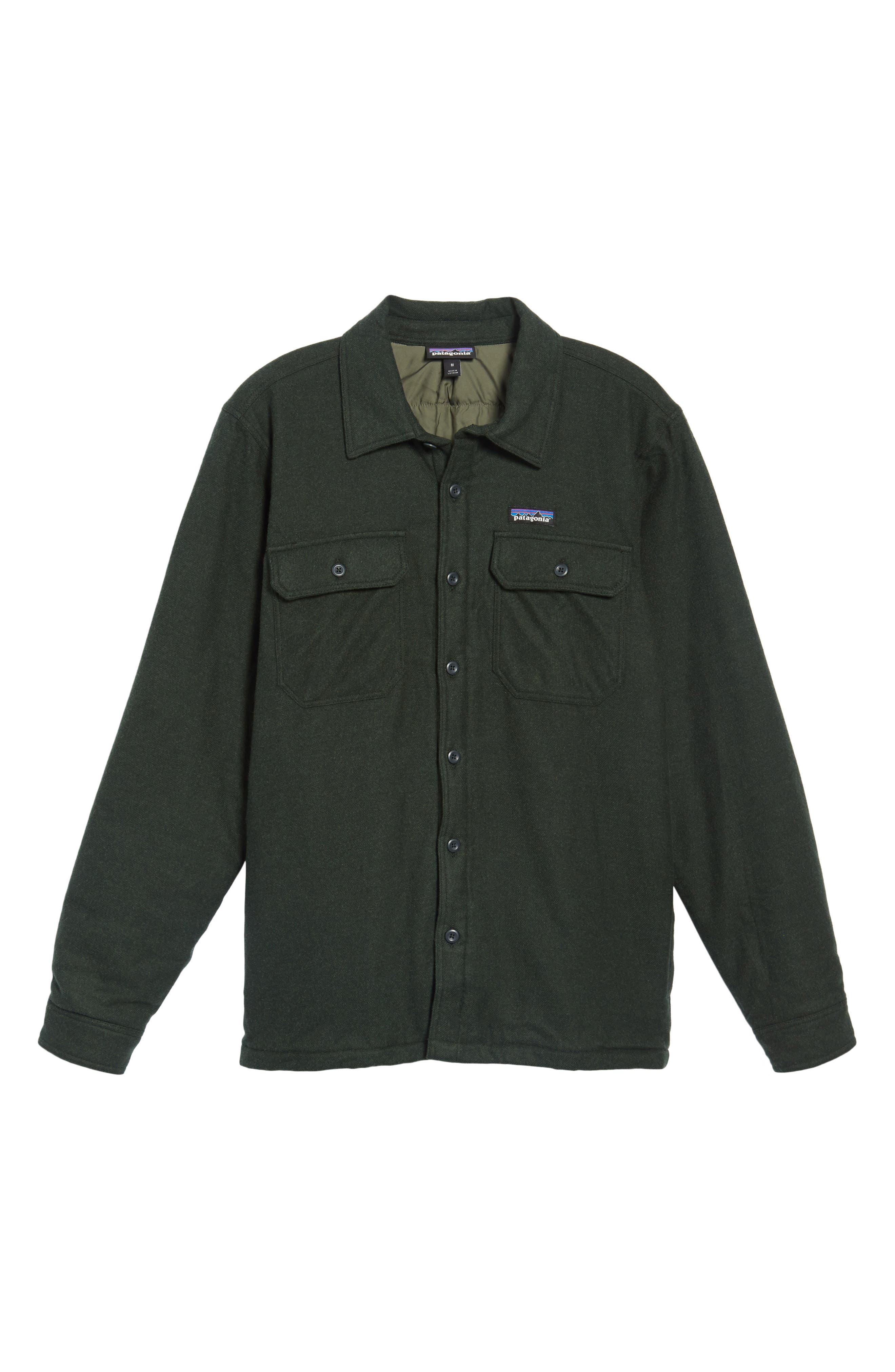 'Fjord' Flannel Shirt Jacket,                             Alternate thumbnail 6, color,                             002