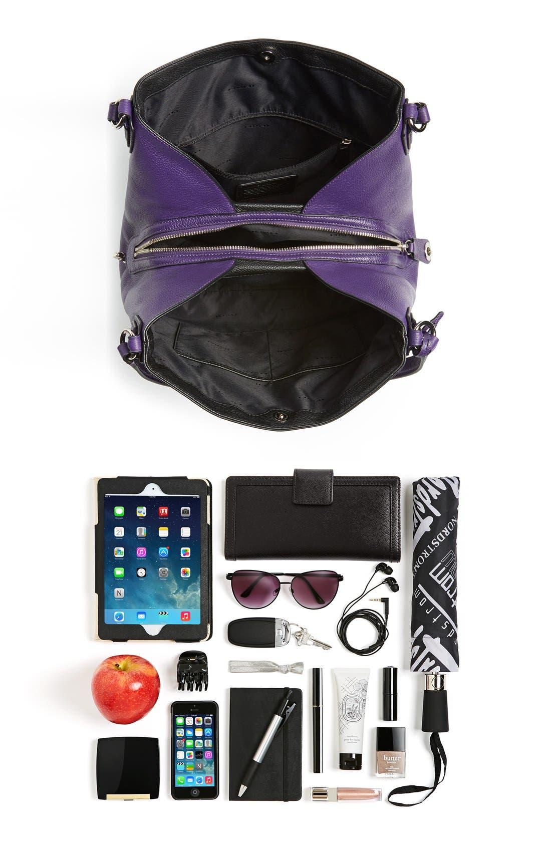 COACH,                             'Edie 31' Pebbled Leather Shoulder Bag,                             Alternate thumbnail 2, color,                             500