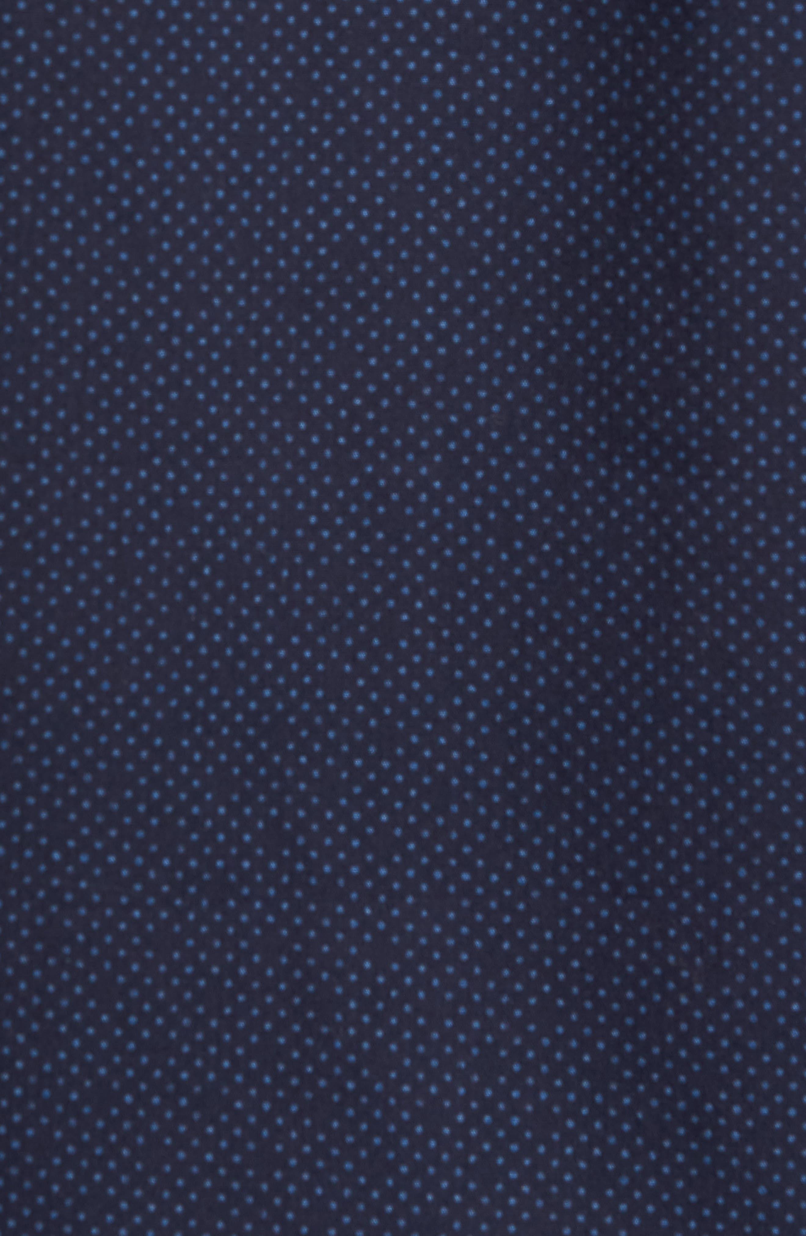 CALIBRATE,                             Slim Fit Dot Non-Iron Sport Shirt,                             Alternate thumbnail 5, color,                             410
