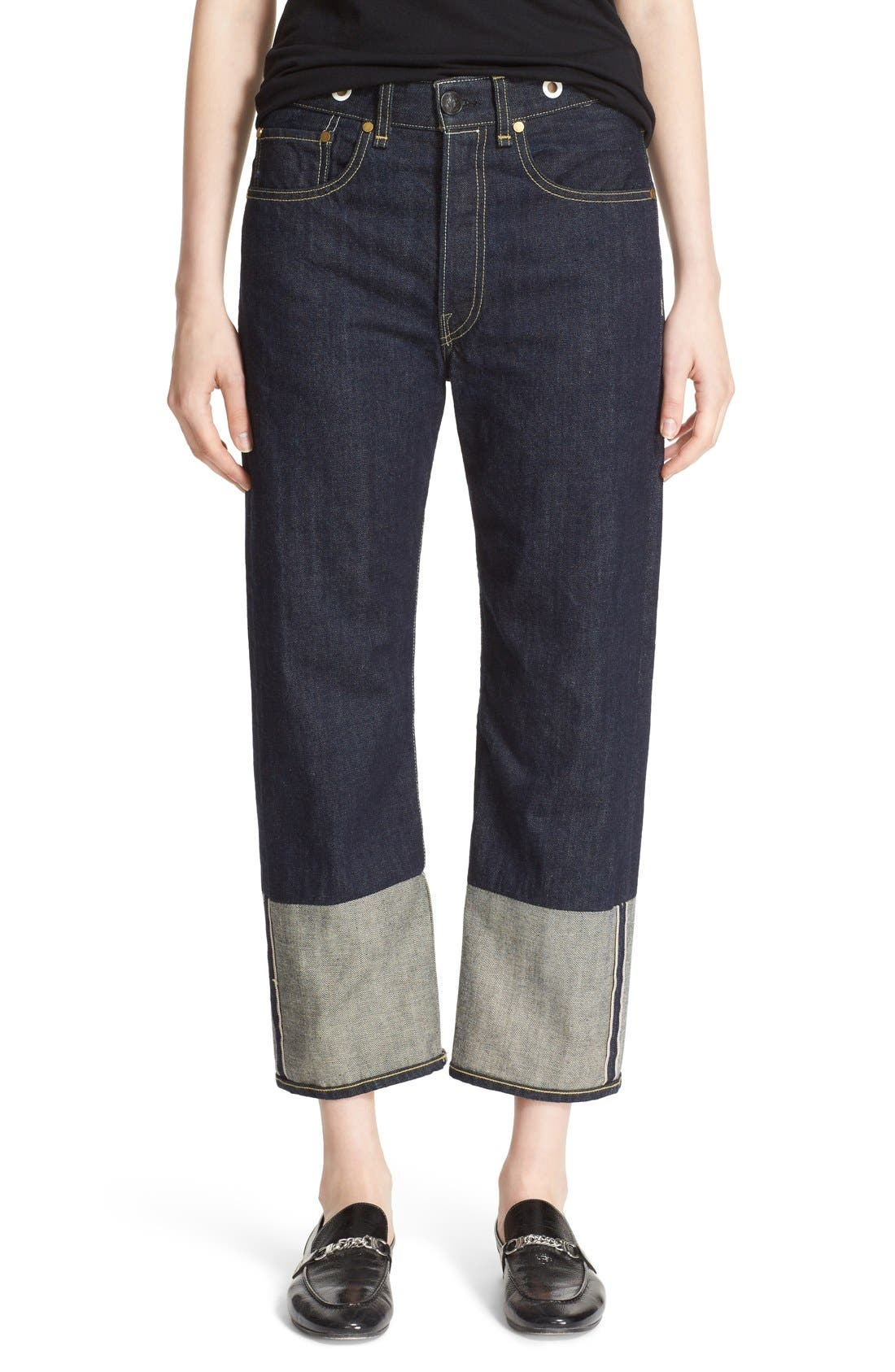 RBW16 High Rise Crop Jeans,                             Main thumbnail 1, color,                             470