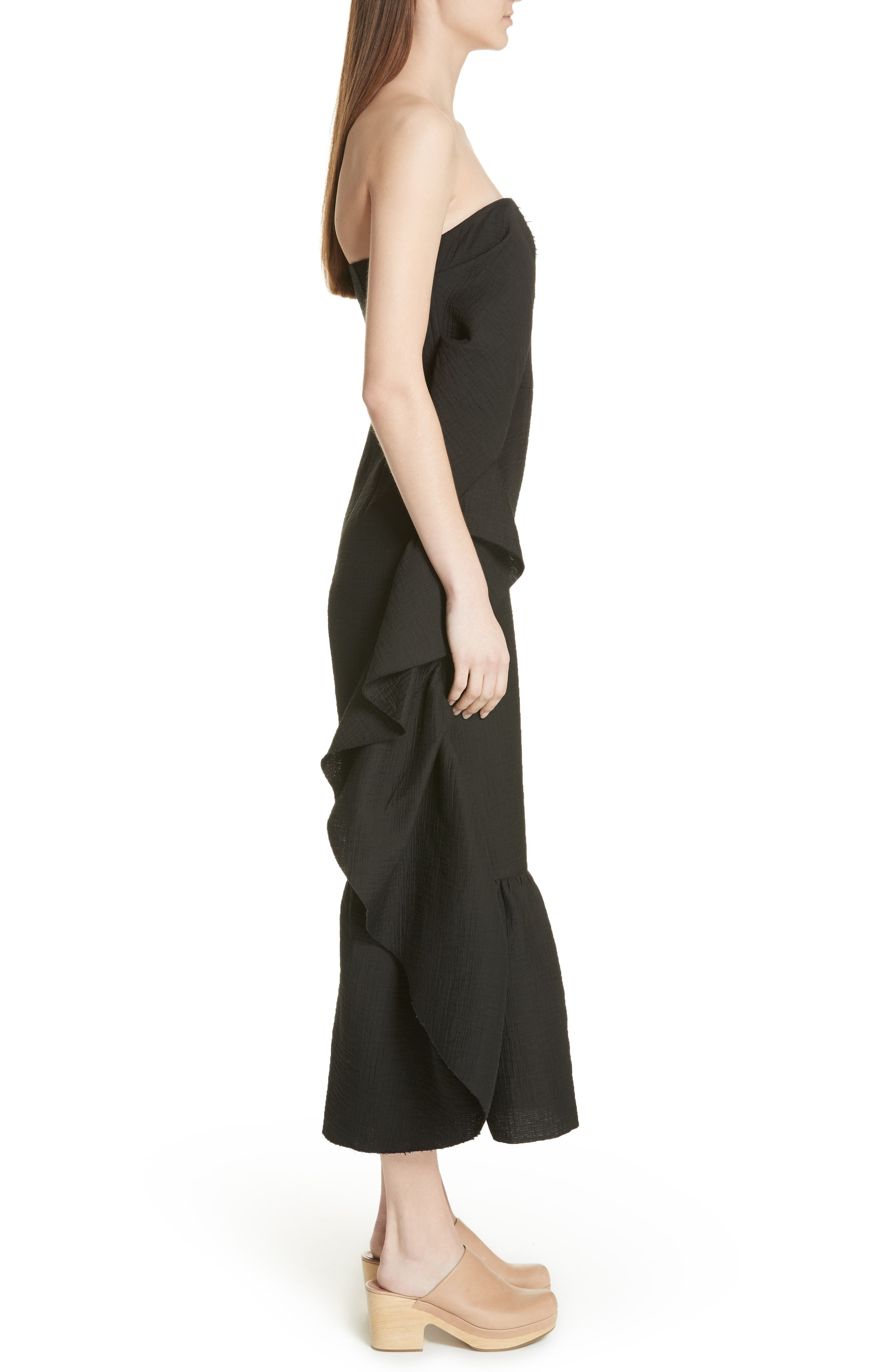 Revel Strapless Jumpsuit,                             Alternate thumbnail 3, color,                             001