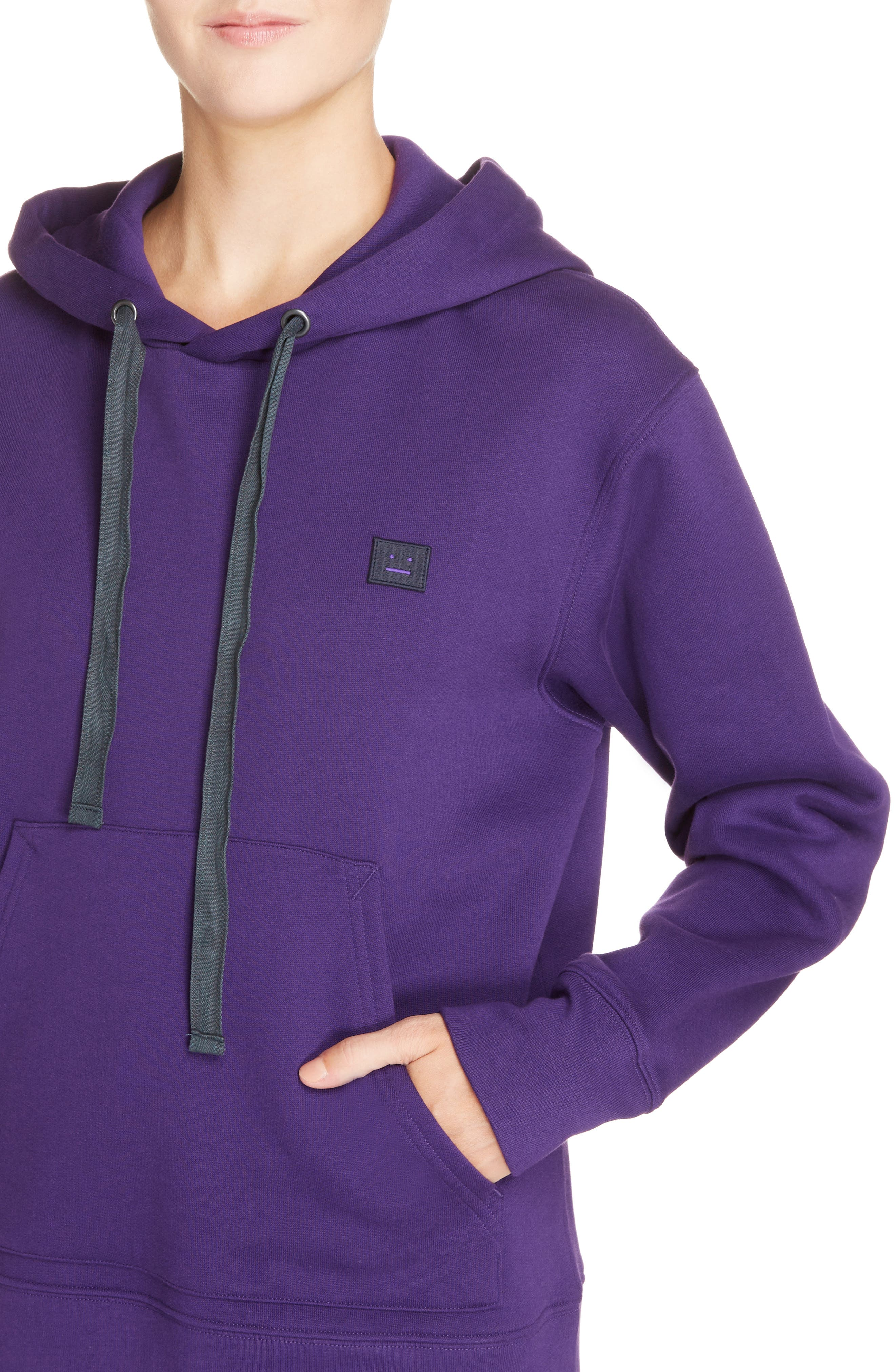 Ferris Face Hoodie,                             Alternate thumbnail 4, color,                             PURPLE