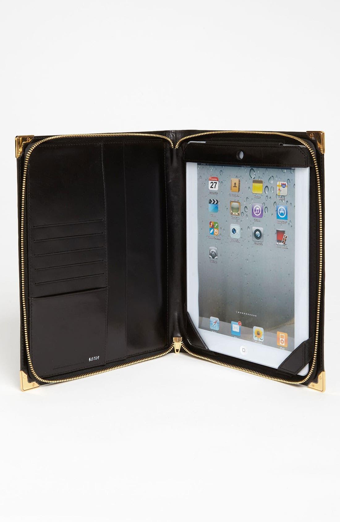 'Prisma' Embossed Leather iPad Case,                             Alternate thumbnail 2, color,                             001