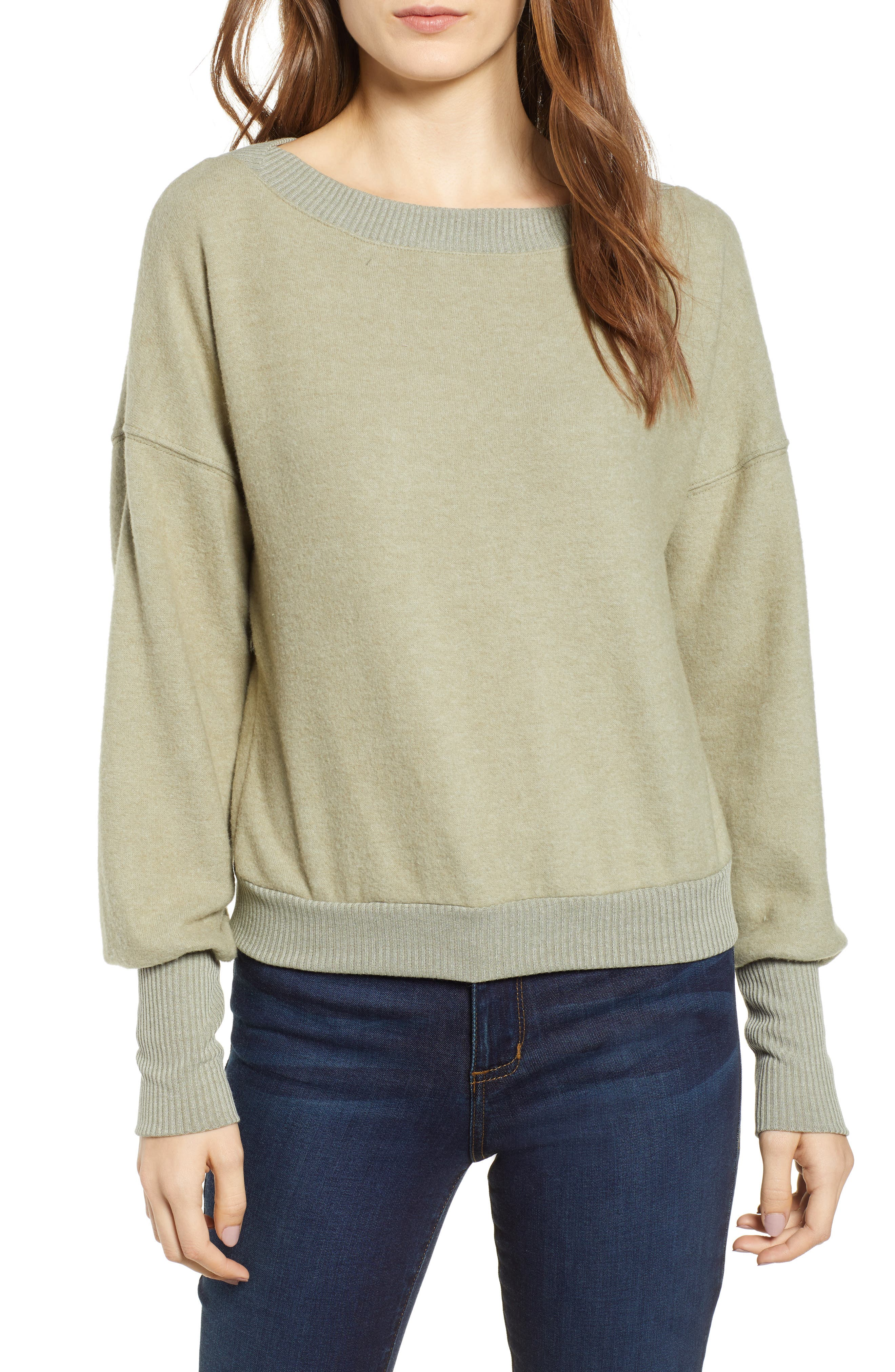 Darwin Cozy Sweatshirt,                         Main,                         color, CAPERS