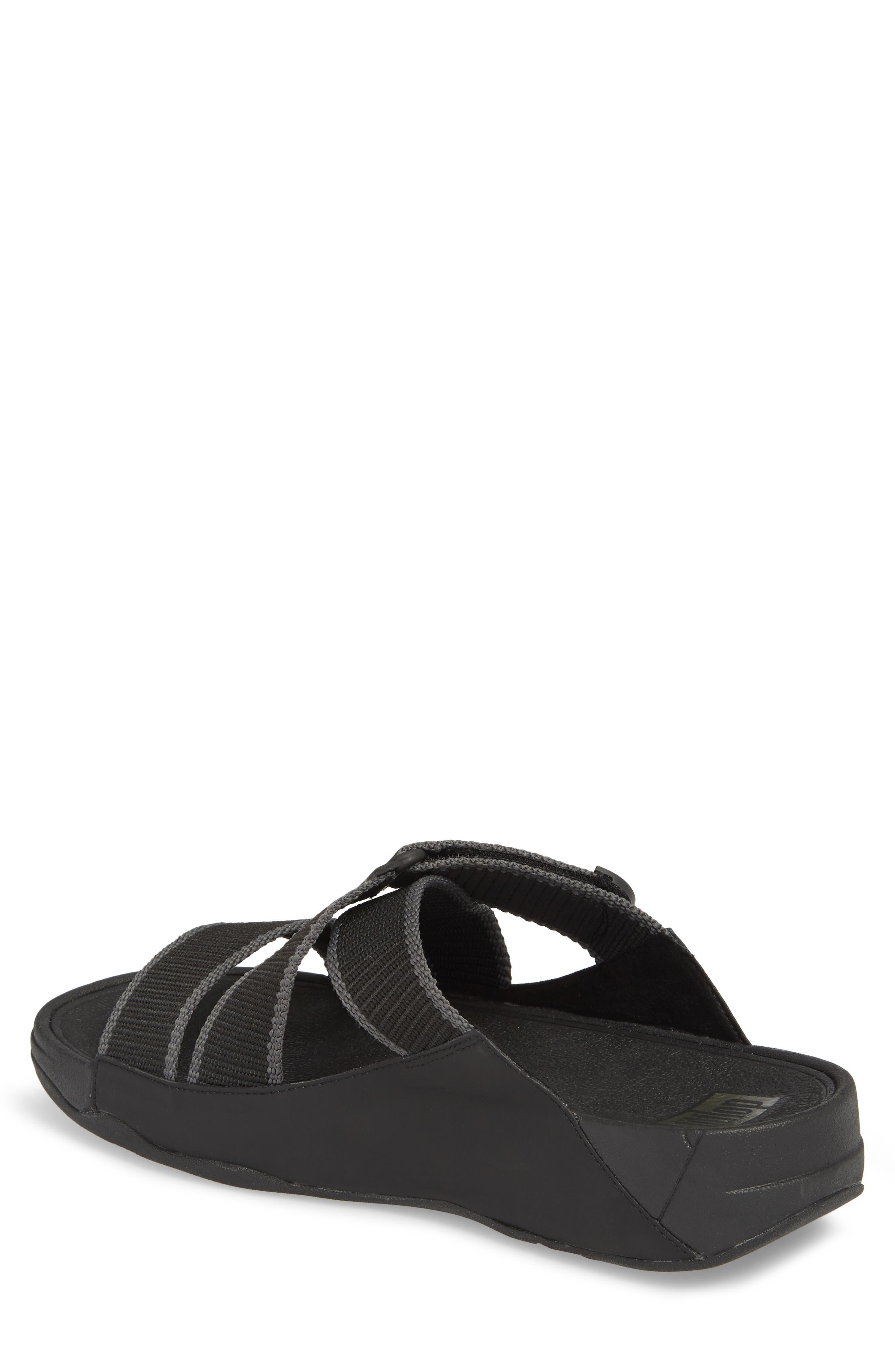 Sling II Slide Sandal,                             Alternate thumbnail 2, color,                             BLACK/ DARK SHADOW