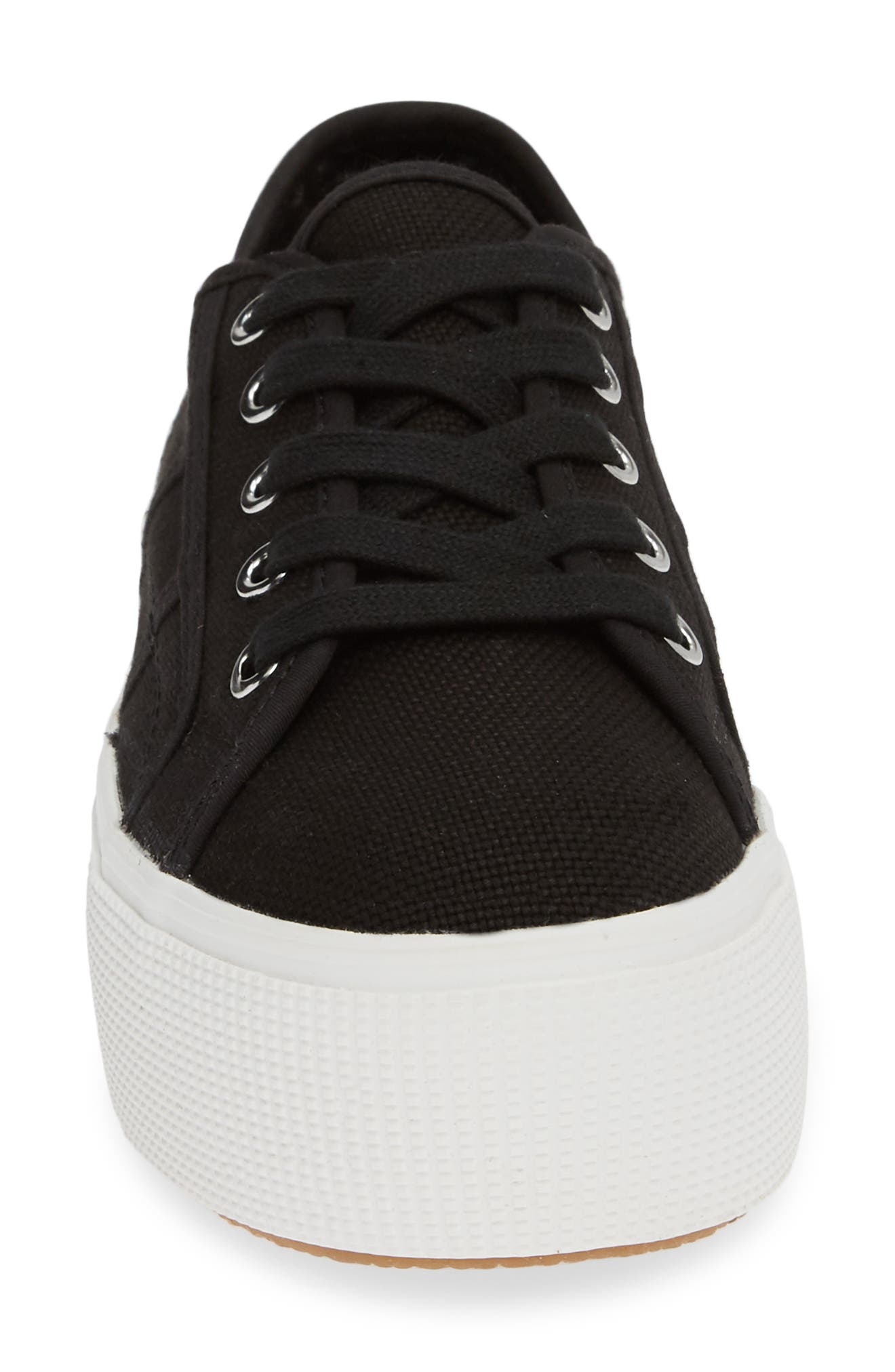 STEVE MADDEN,                             Emmi Platform Sneaker,                             Alternate thumbnail 4, color,                             BLACK