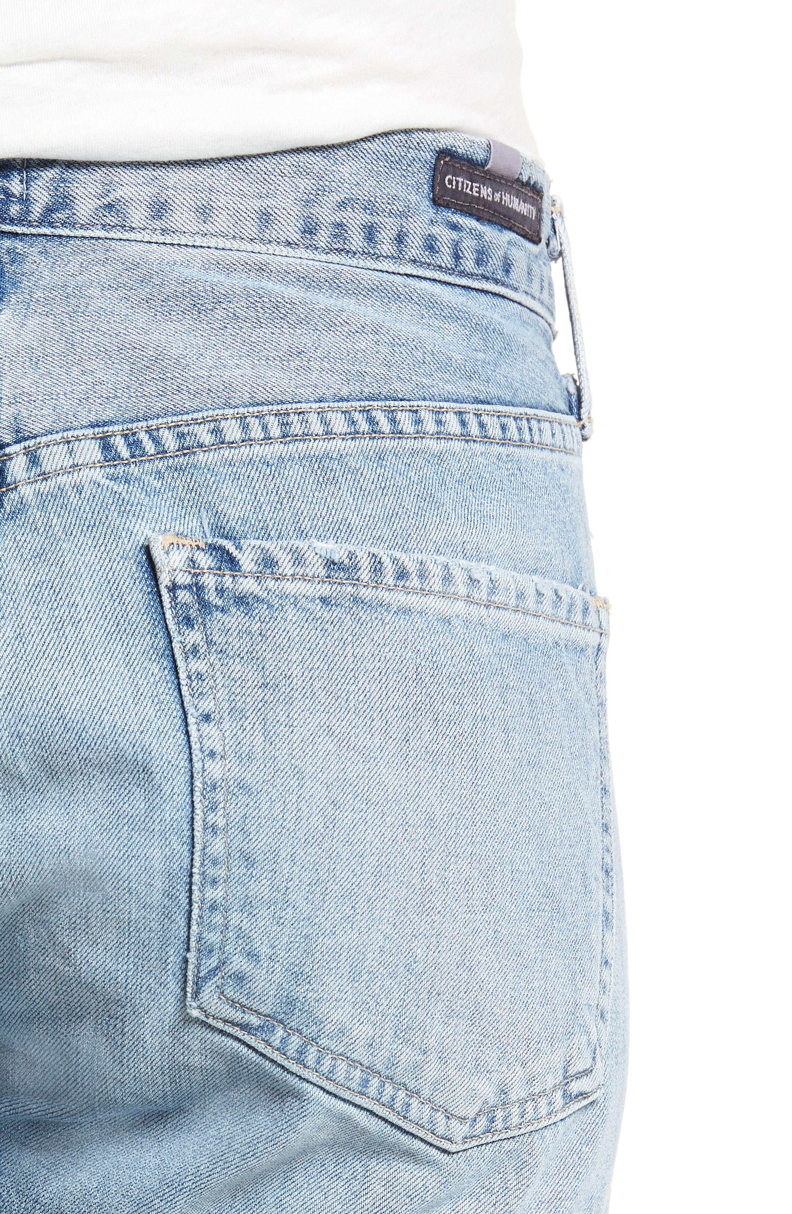 Emerson Slim Fit Boyfriend Jeans,                             Alternate thumbnail 4, color,                             SUNDAY MORNING