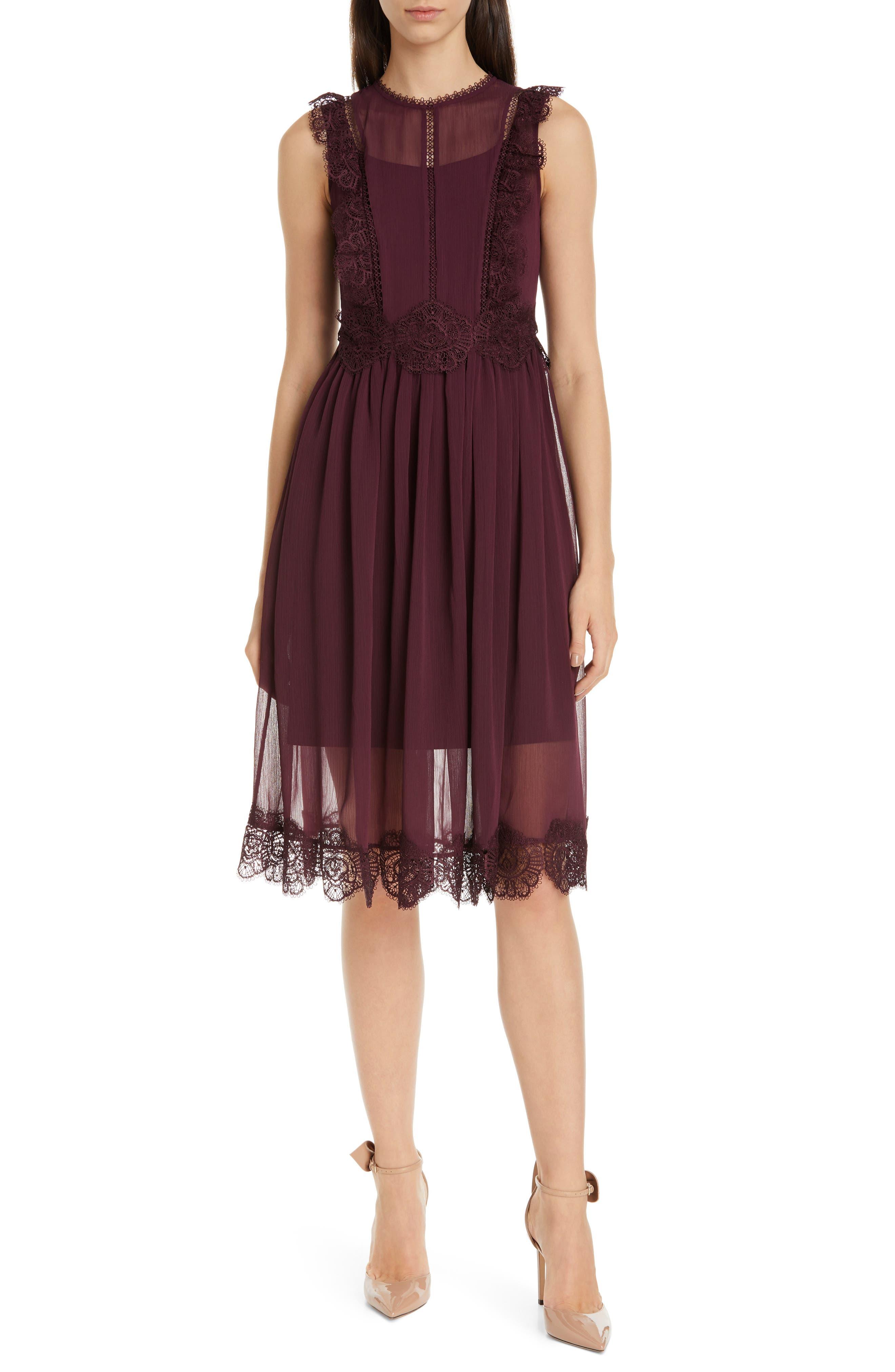 Ted Baker London Porrla Midi Dress, Purple