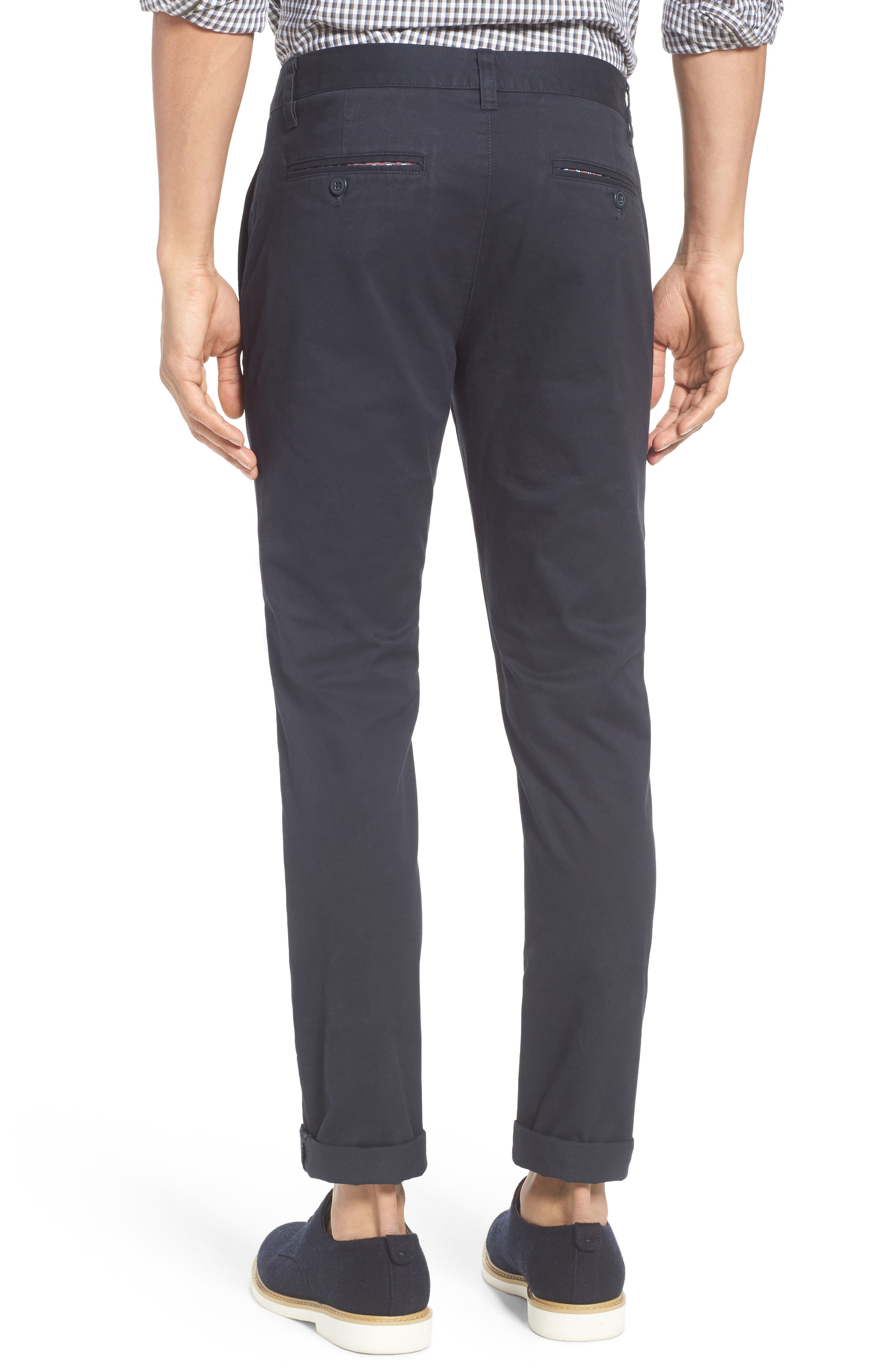 Tailored Fit Washed Stretch Cotton Chinos,                             Alternate thumbnail 67, color,
