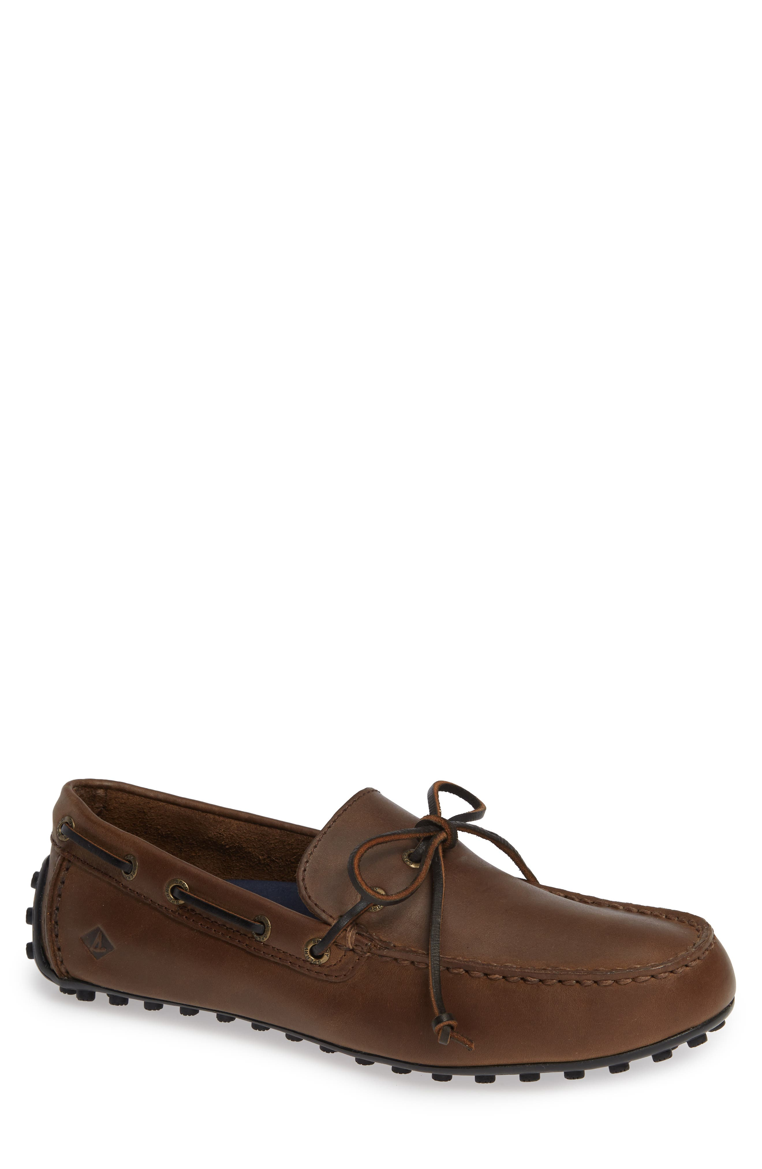 SPERRY Hamilton II Driving Shoe, Main, color, DARK BROWN