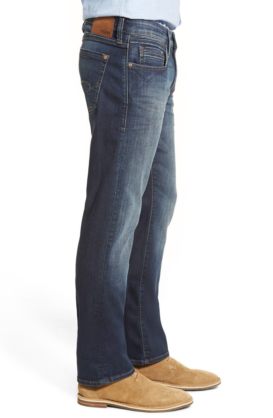 MAVI JEANS,                             Zach Straight Leg Jeans,                             Alternate thumbnail 6, color,                             DARK BRUSHED WILLIAMSBURG