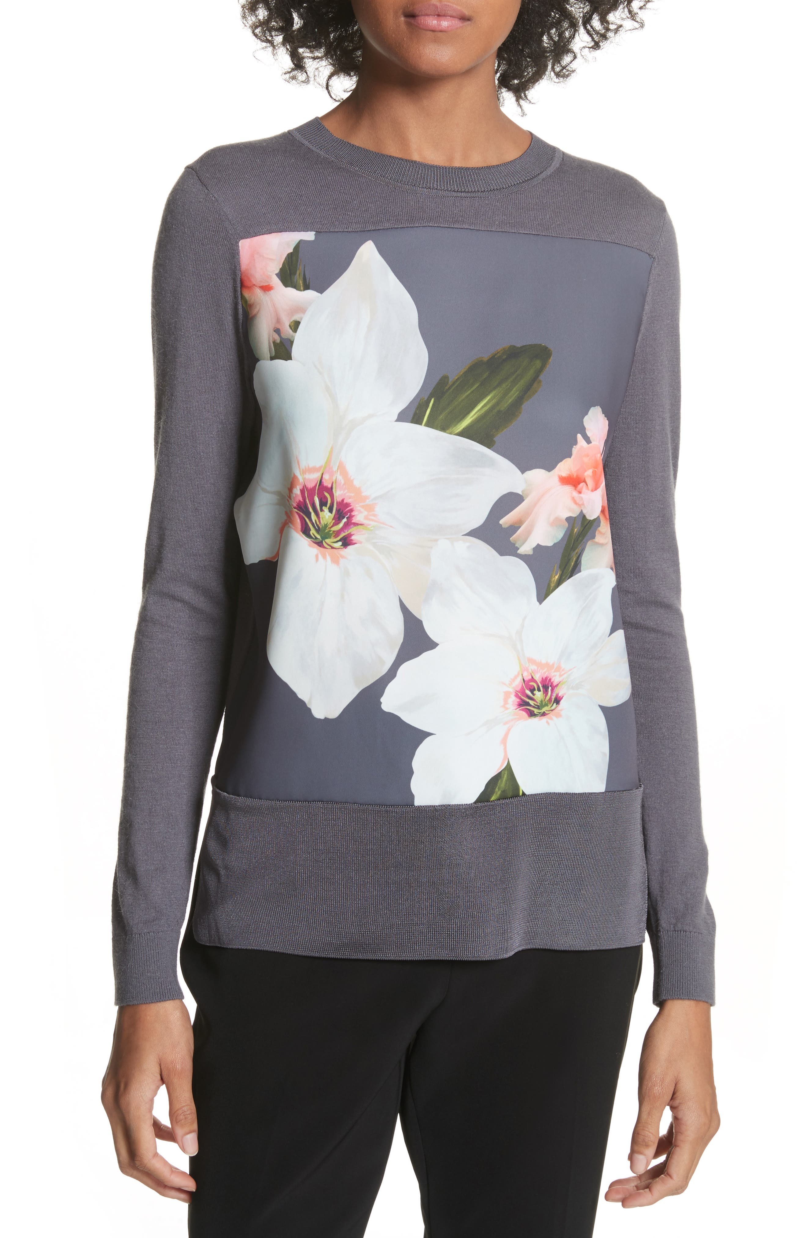 Chatswoth Woven Front Sweater,                         Main,                         color, 030