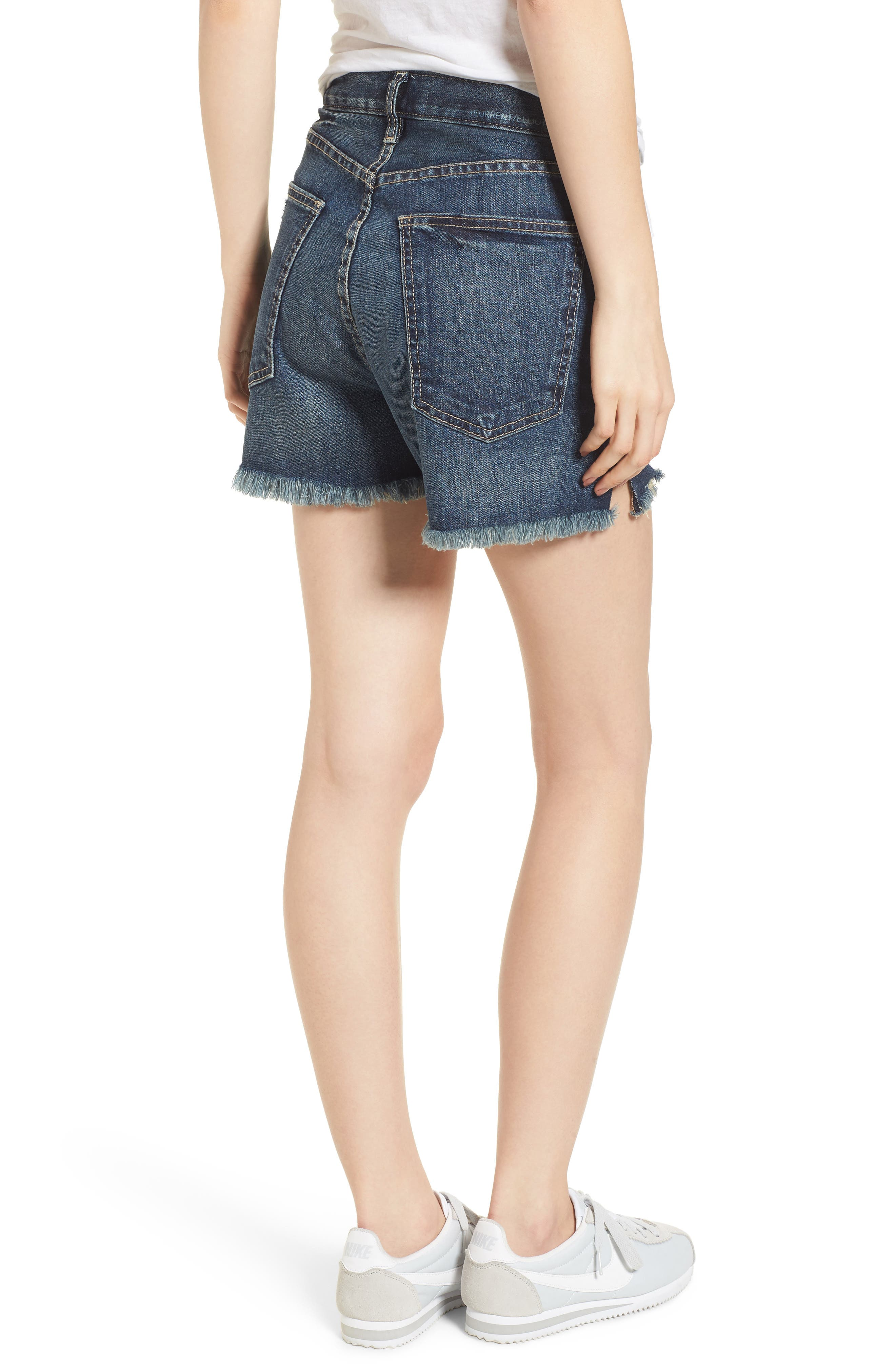 The Ultra High Waist Cutoff Denim Shorts,                             Alternate thumbnail 2, color,                             490
