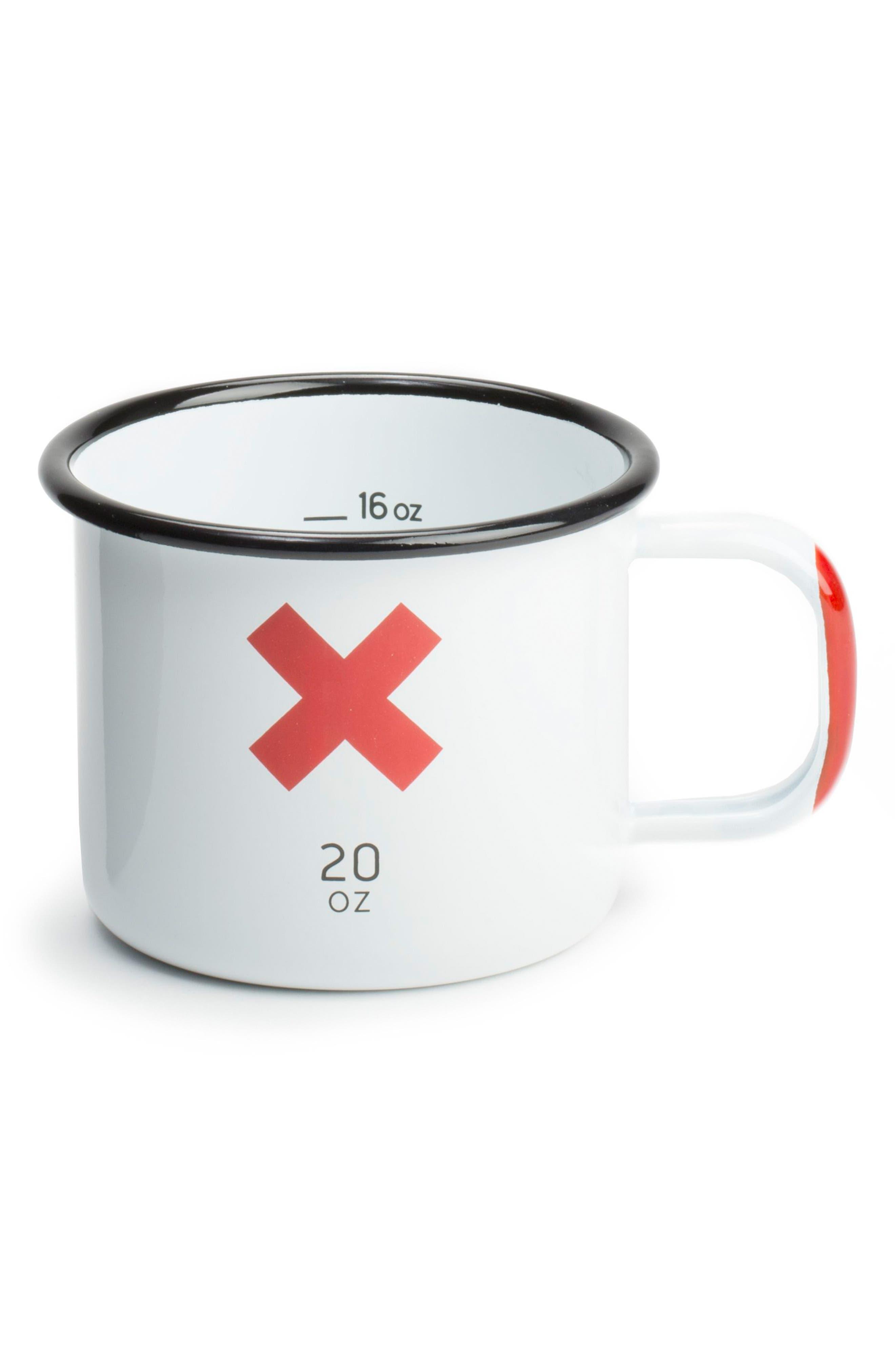 BEST MADE CO.,                             Set of 2 Enameled Steel Mugs,                             Alternate thumbnail 4, color,                             WHITE