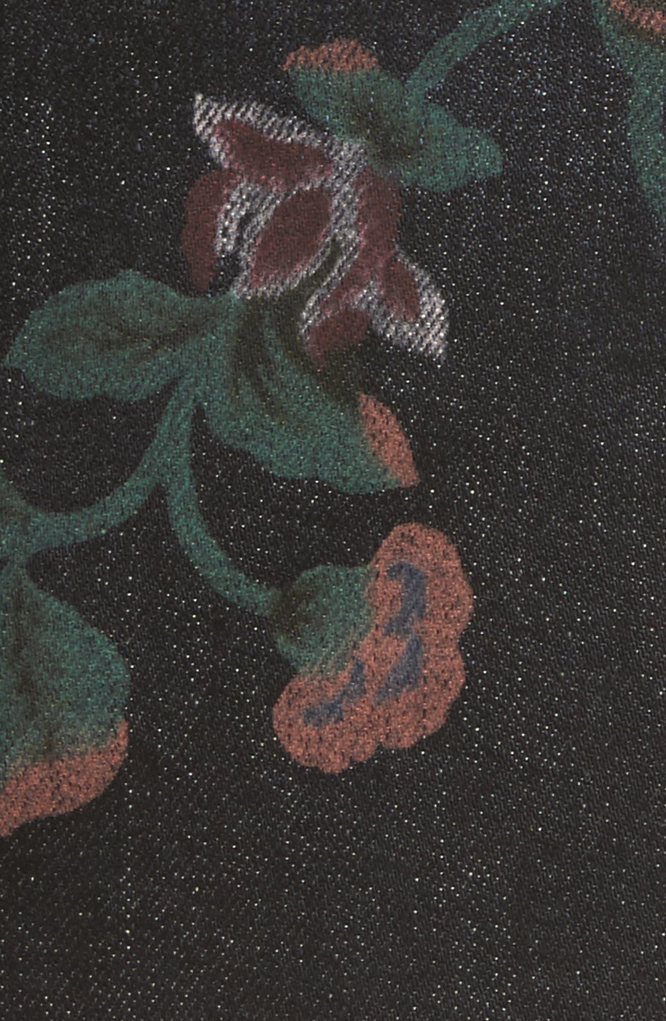 Print Denim Miniskirt,                             Alternate thumbnail 5, color,                             004