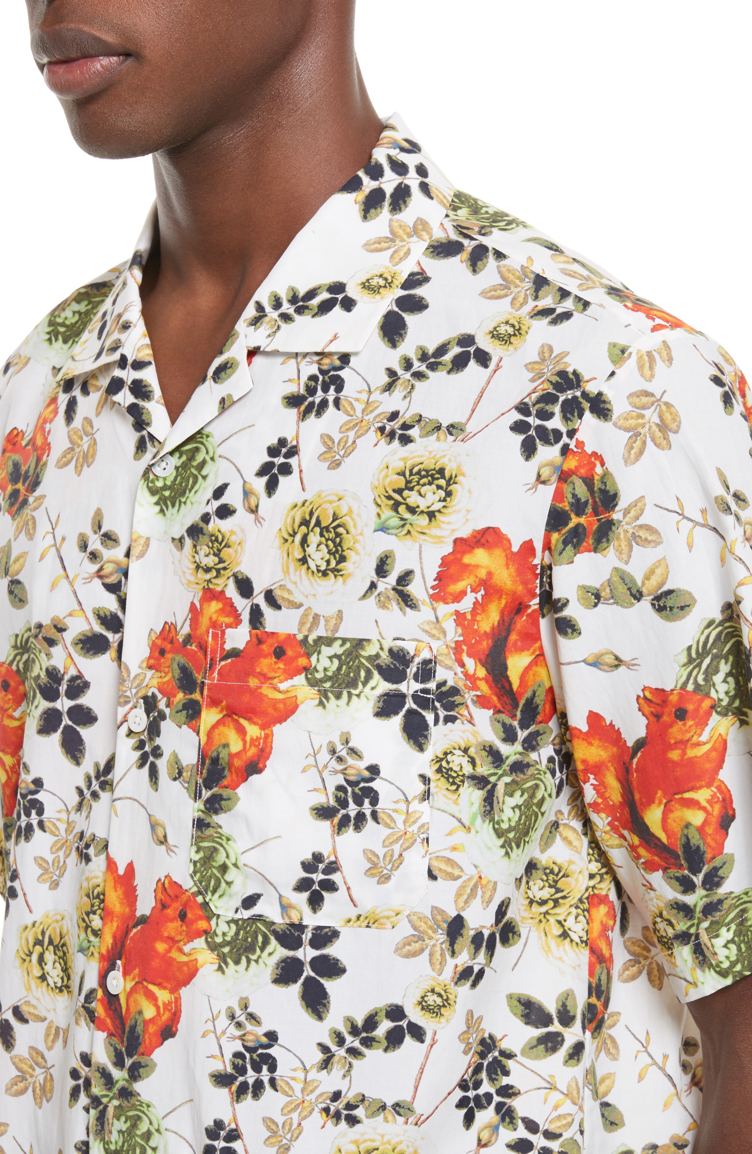 Floral Souvenir Shirt,                             Alternate thumbnail 5, color,                             191