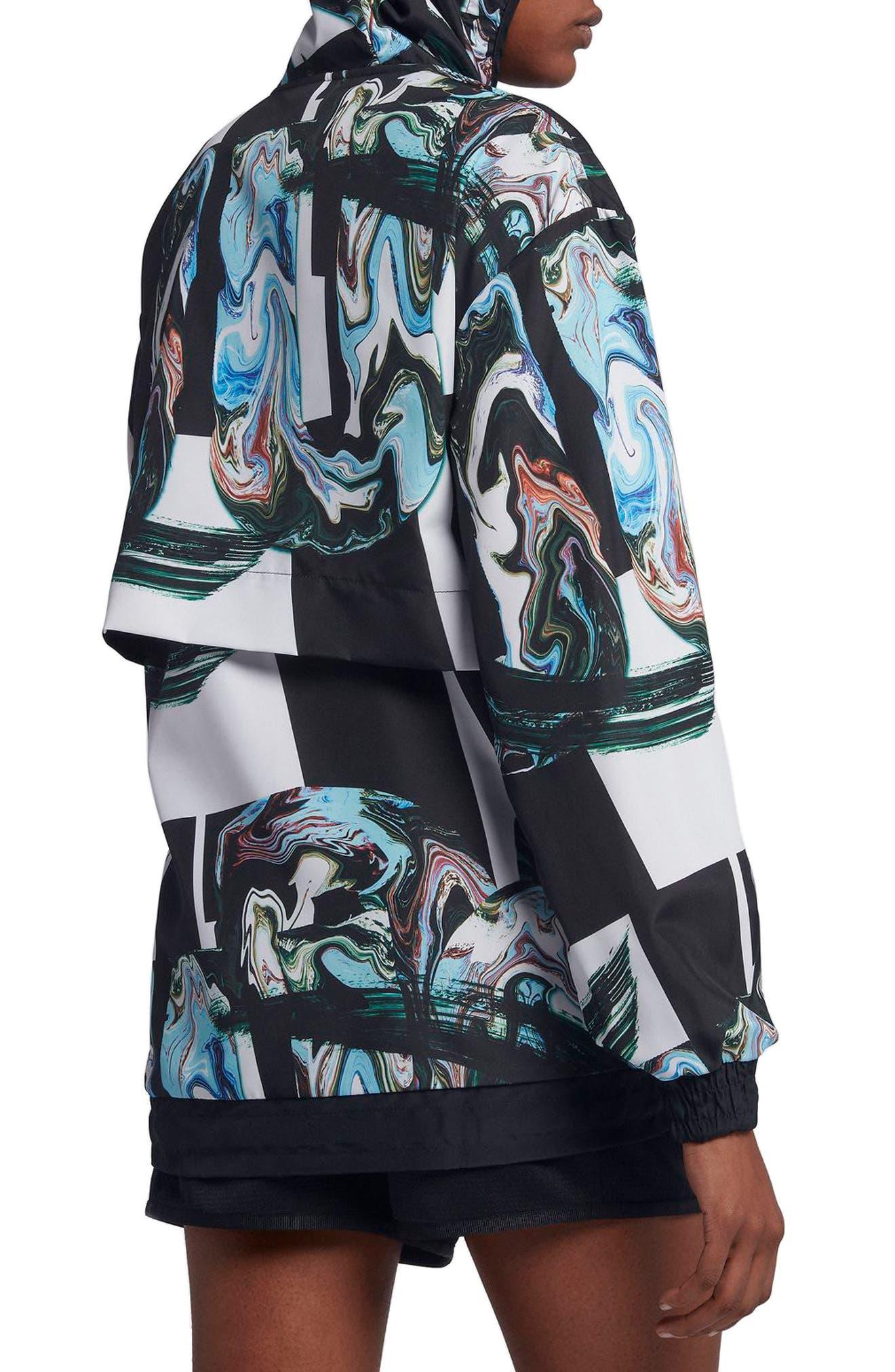 Sportswear Women's Marble Print Hooded Jacket,                             Alternate thumbnail 4, color,