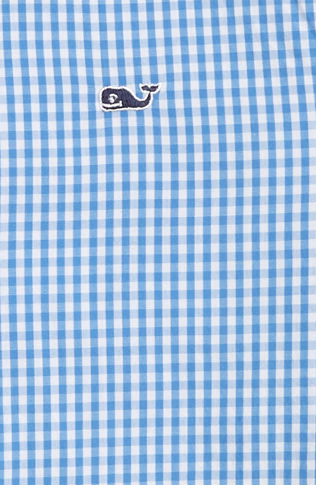Classic Gingham Whale Shirt,                             Alternate thumbnail 2, color,                             HYDRANGEA