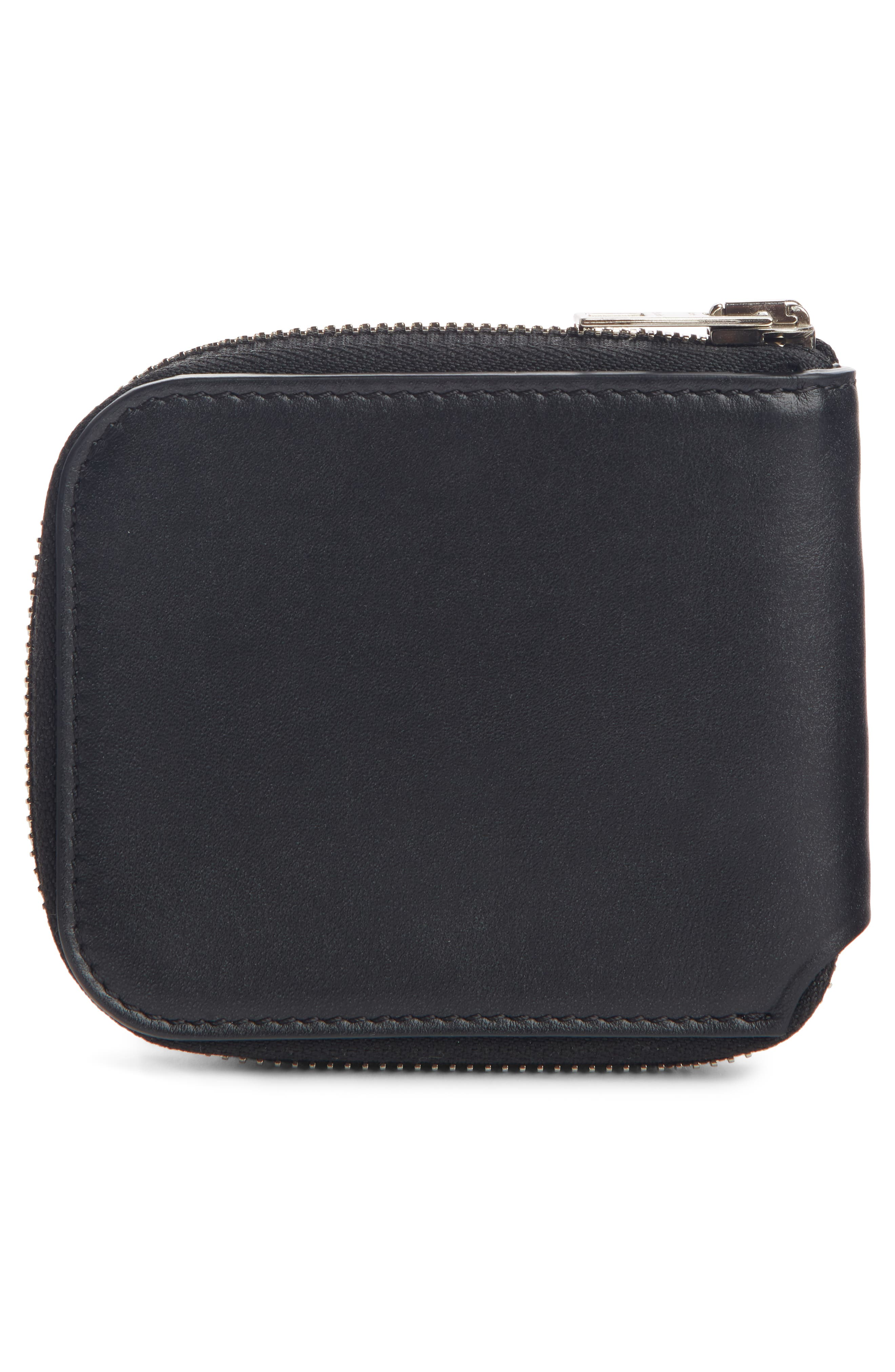 Kei S Zip Around Leather Wallet,                             Alternate thumbnail 2, color,                             BLACK